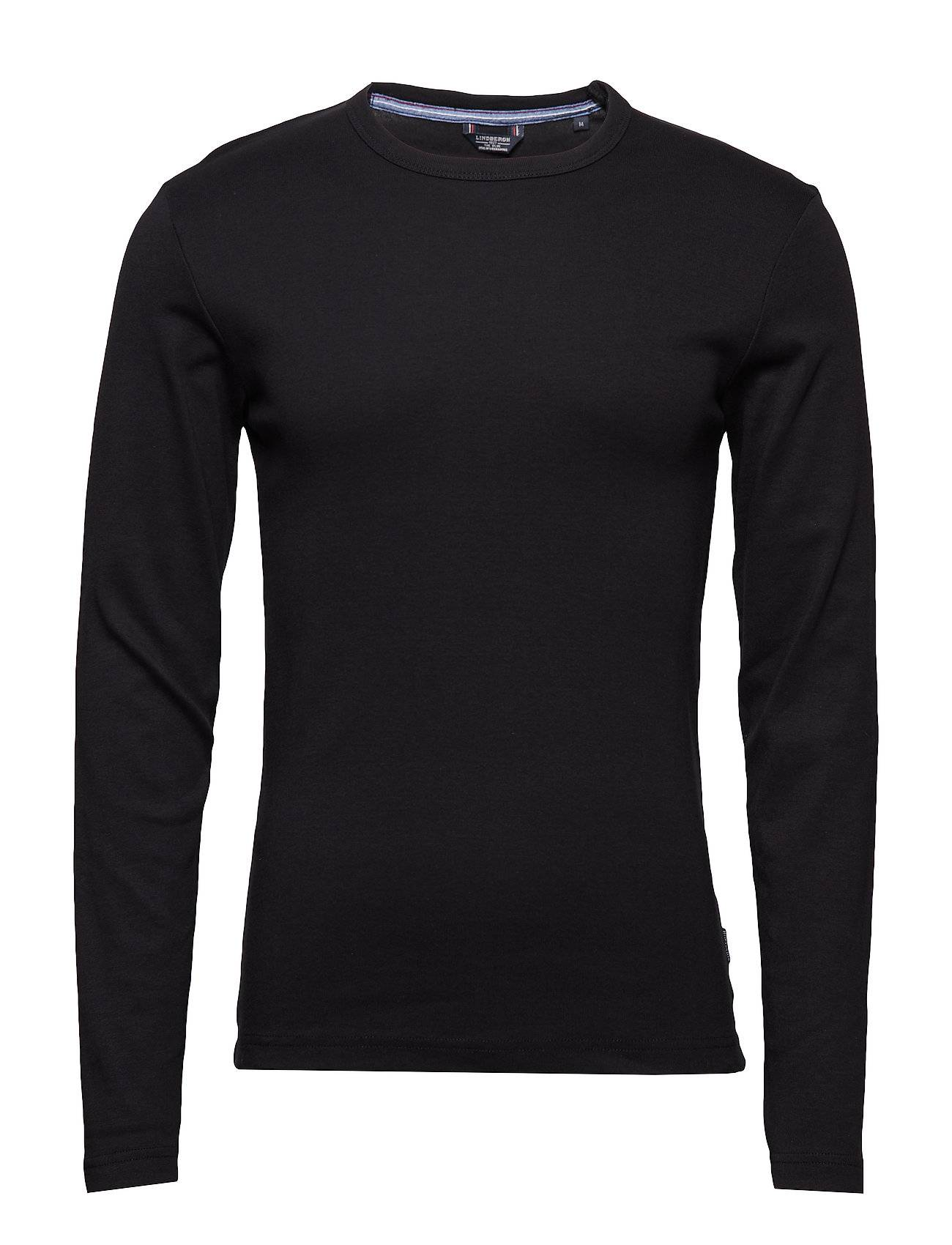Lindbergh Basic Tee O-Neck L/S T-shirts Long-sleeved Musta Lindbergh