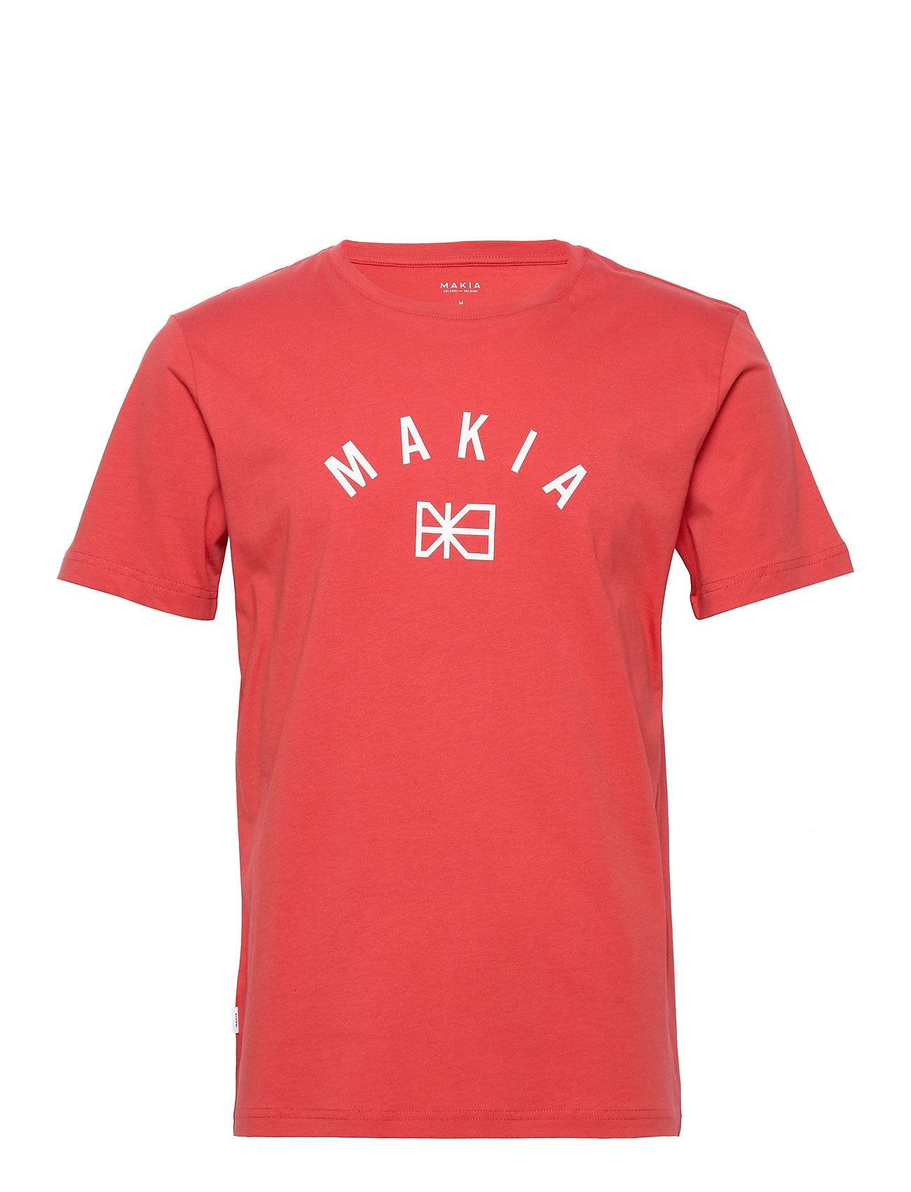 Makia Brand T-Shirt T-shirts Short-sleeved Punainen Makia