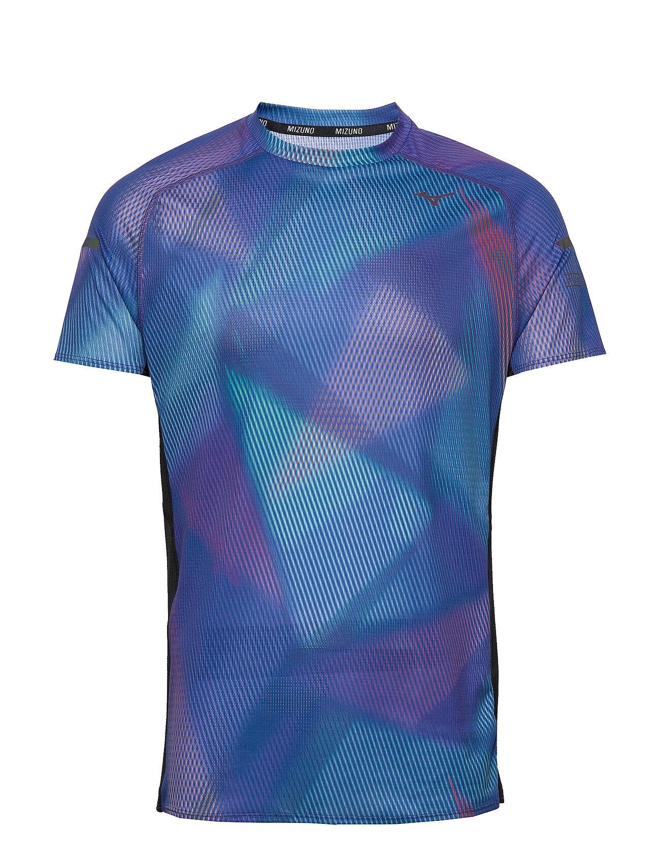 Mizuno Aero Graphic Tee T-shirts Short-sleeved Sininen Mizuno