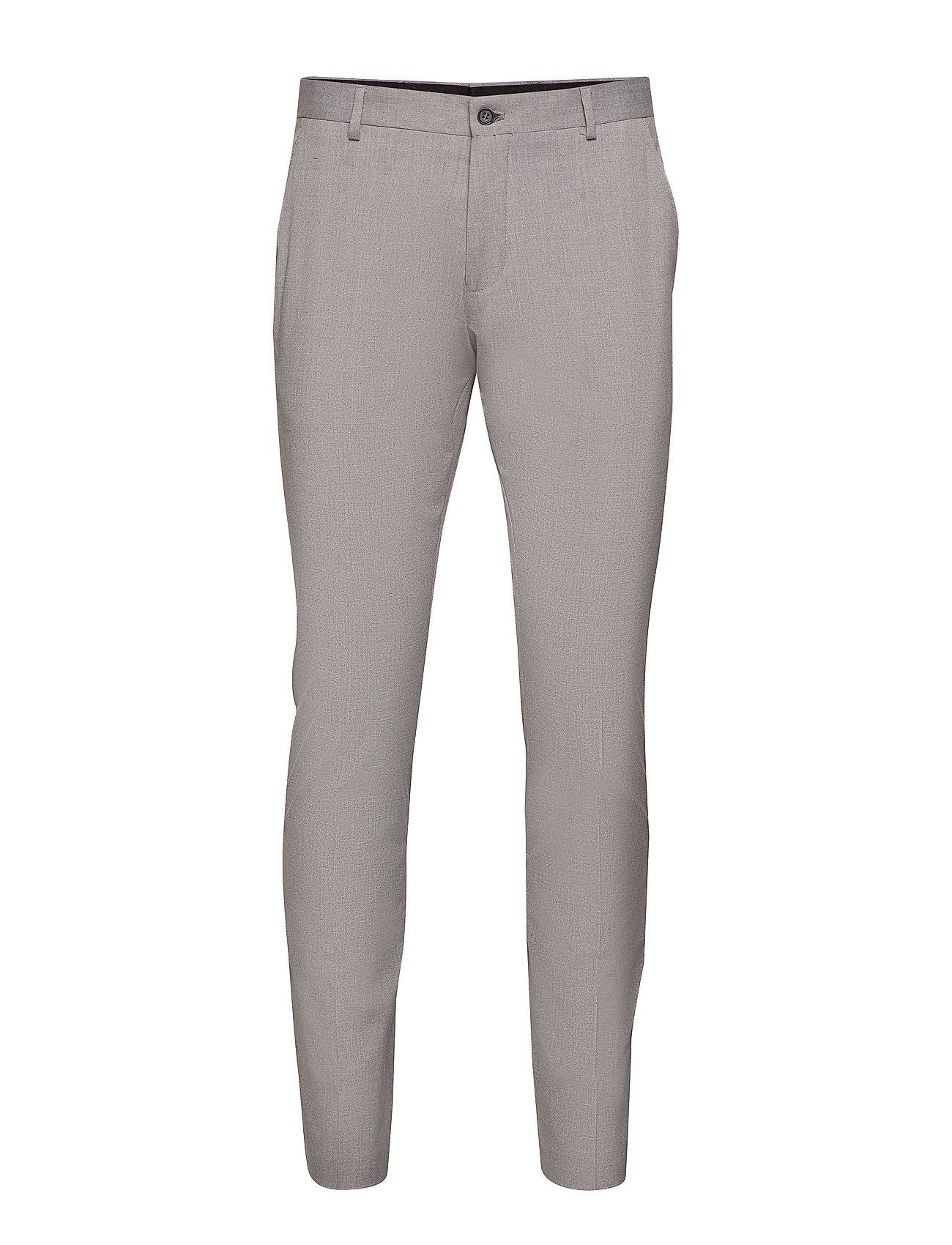 Selected Homme Slhslim-Mylologan Light Grey Trs B Noos Puvun Housut Suorat Housut Harmaa Selected Homme