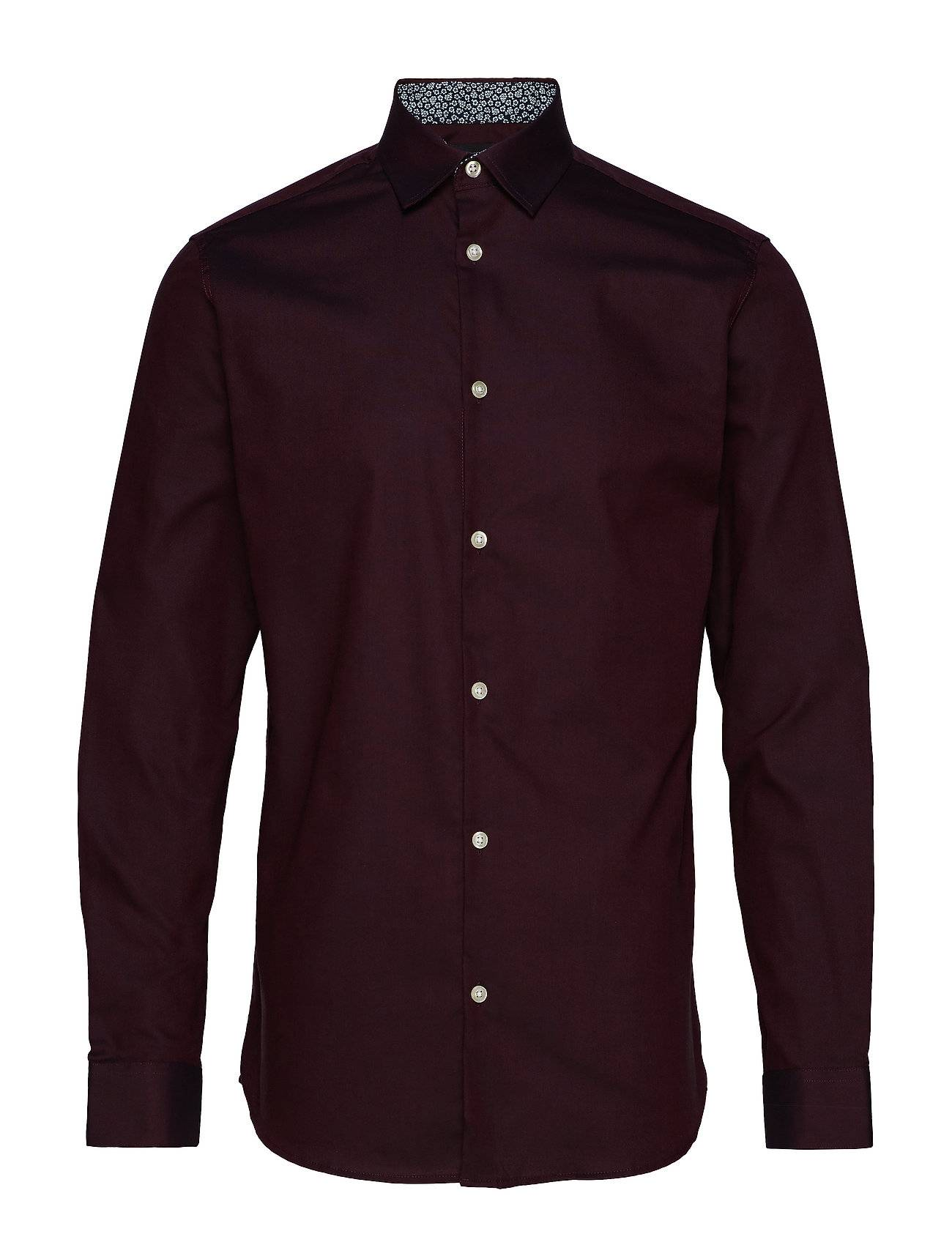 Selected Homme Slhslimnew-Mark Shirt Ls B Noos Paita Bisnes Punainen Selected Homme