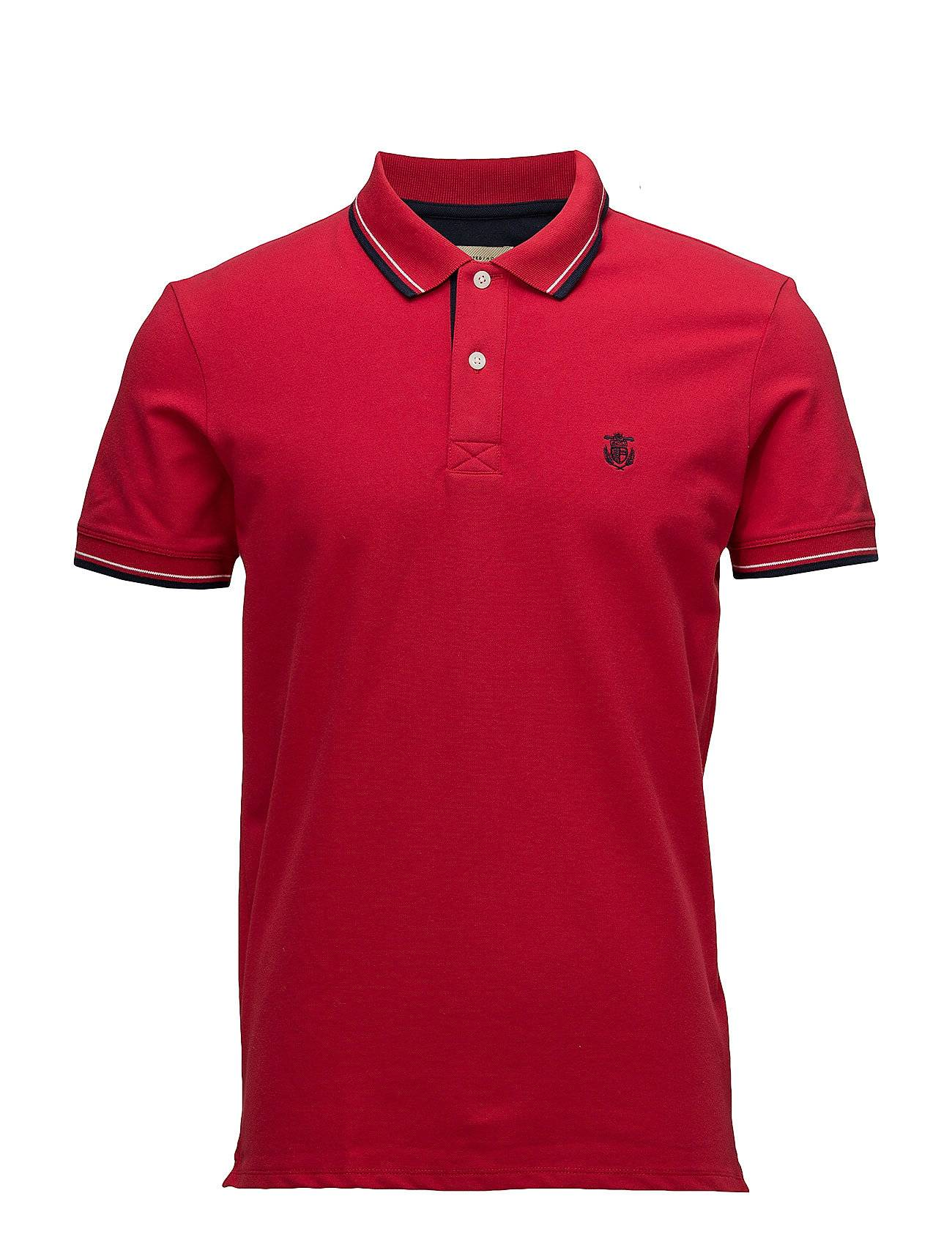 Selected Homme Slhnewseason Ss Polo W Noos Polos Short-sleeved Punainen Selected Homme