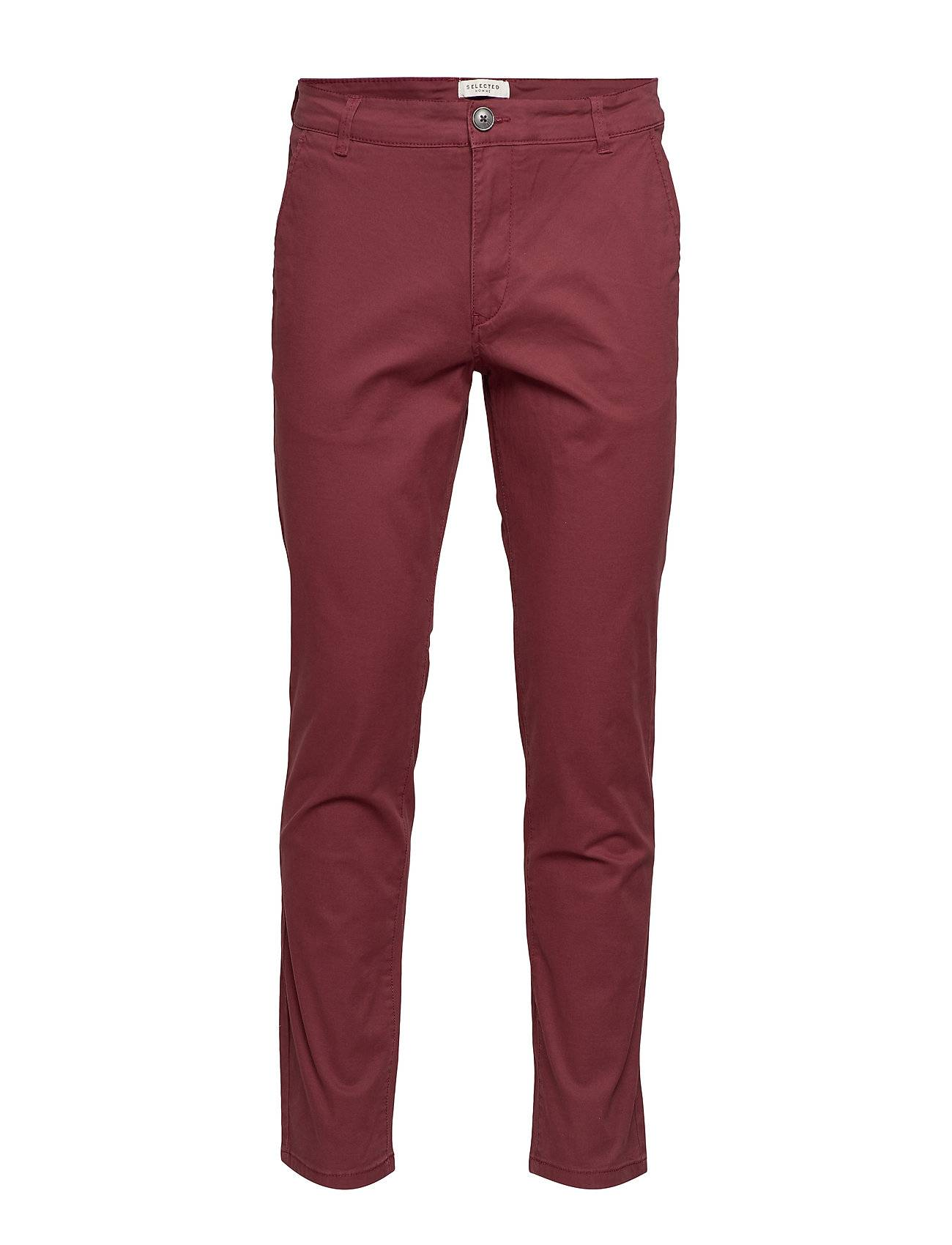 Selected Homme Slhstraight-Paris Pants W Noos Chinot Housut Punainen Selected Homme