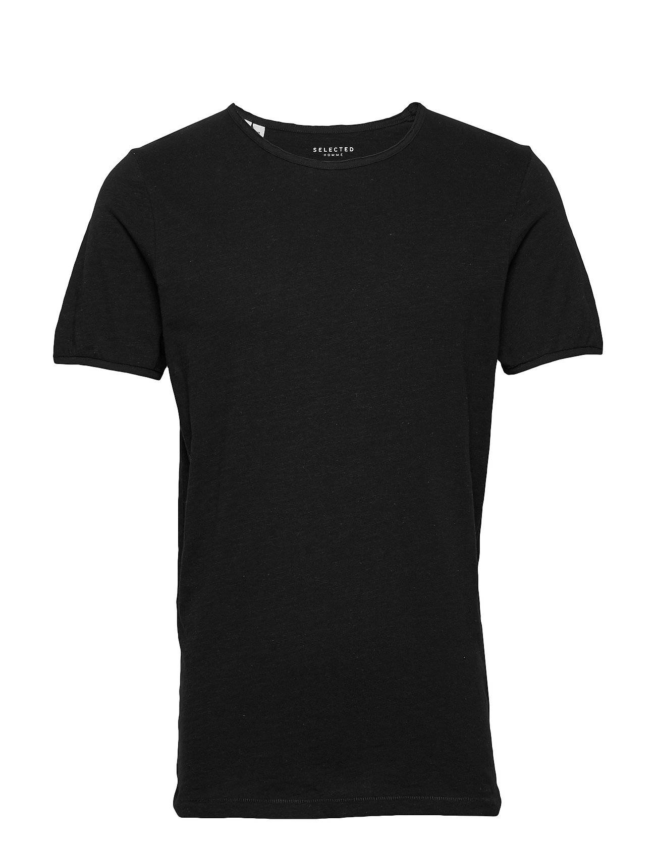 Selected Homme Slhmorgan Ss O-Neck Tee W Noos T-shirts Short-sleeved Musta Selected Homme