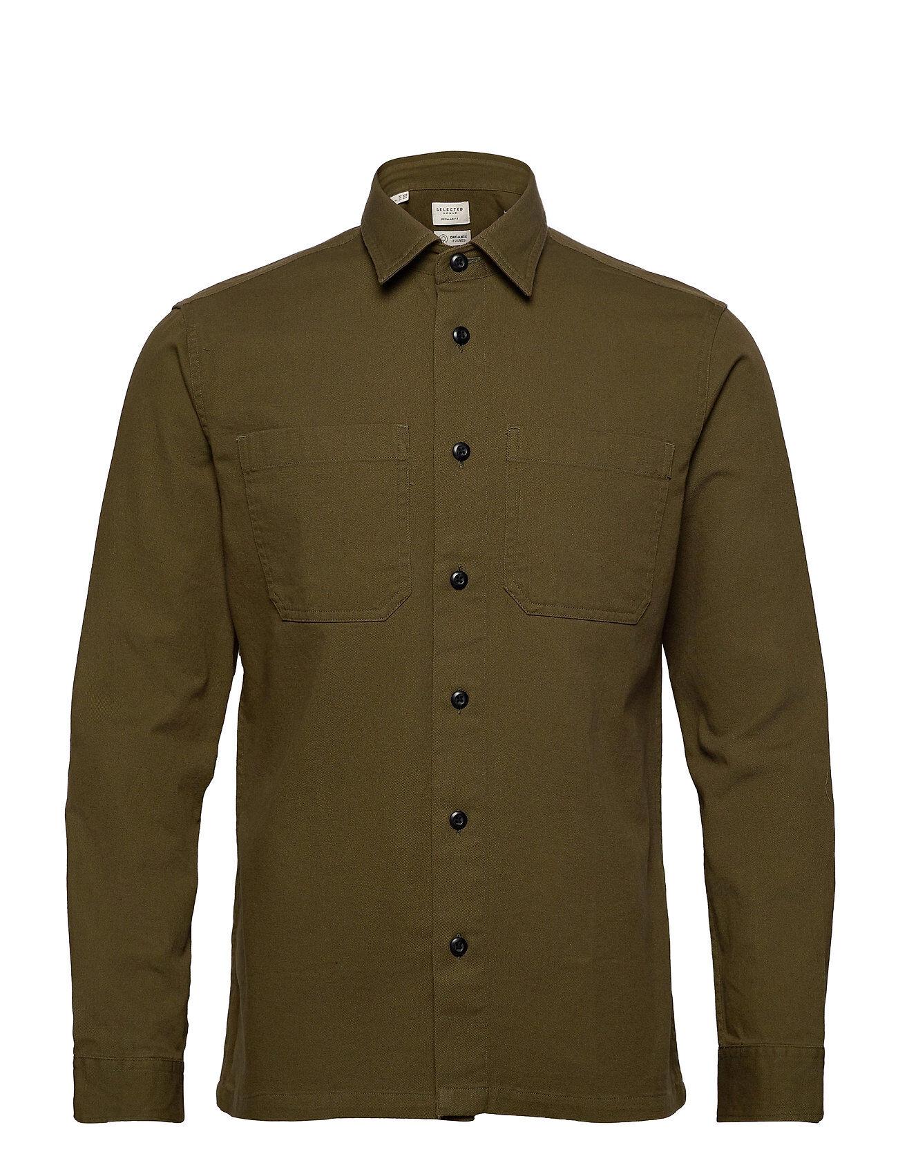 Selected Homme Slhregsaki Shirt Jacket Ls W Paita Rento Casual Vihreä Selected Homme