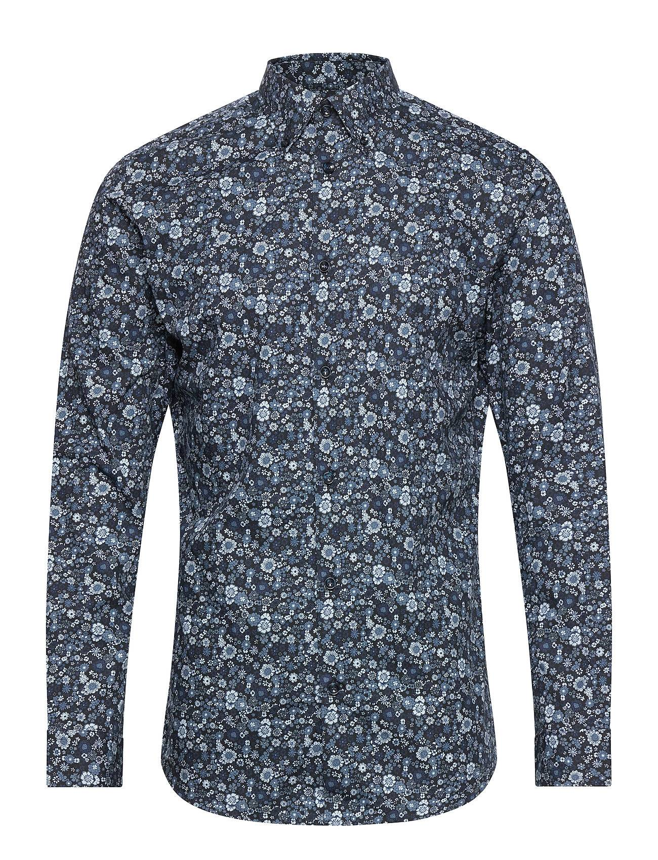 Selected Homme Slhslimrex-Vick Shirt Ls B Noos Paita Rento Casual Musta Selected Homme