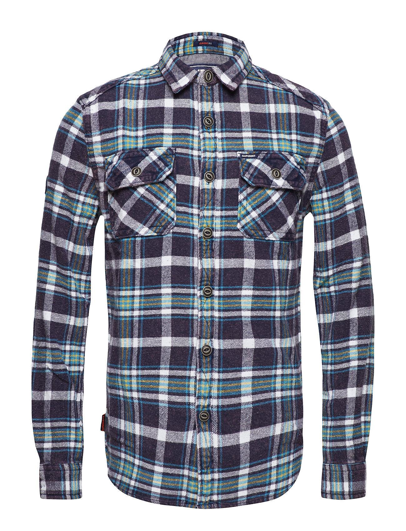 Superdry Merchant Milled Shirt Paita Rento Casual Sininen Superdry