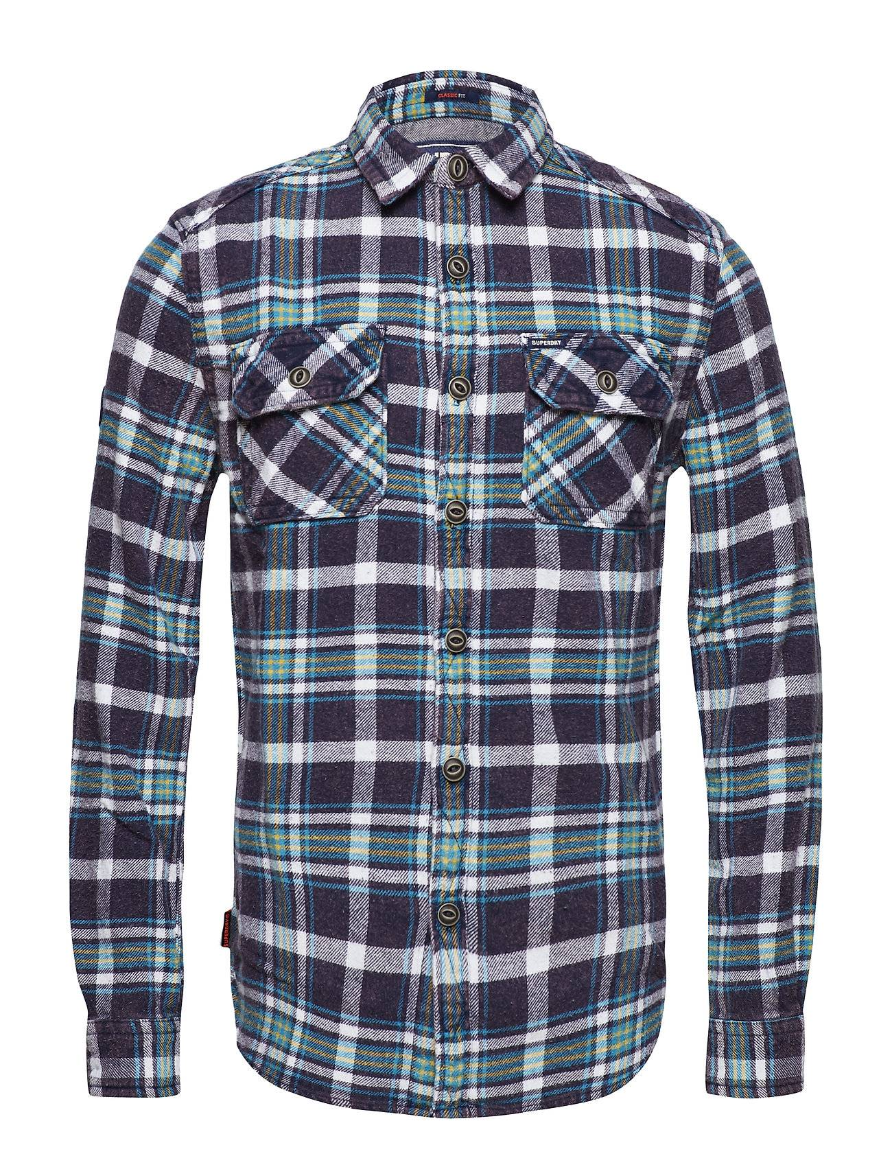Superdry Merchant Milled Shirt Paita Rento Casual Sininen Superdry