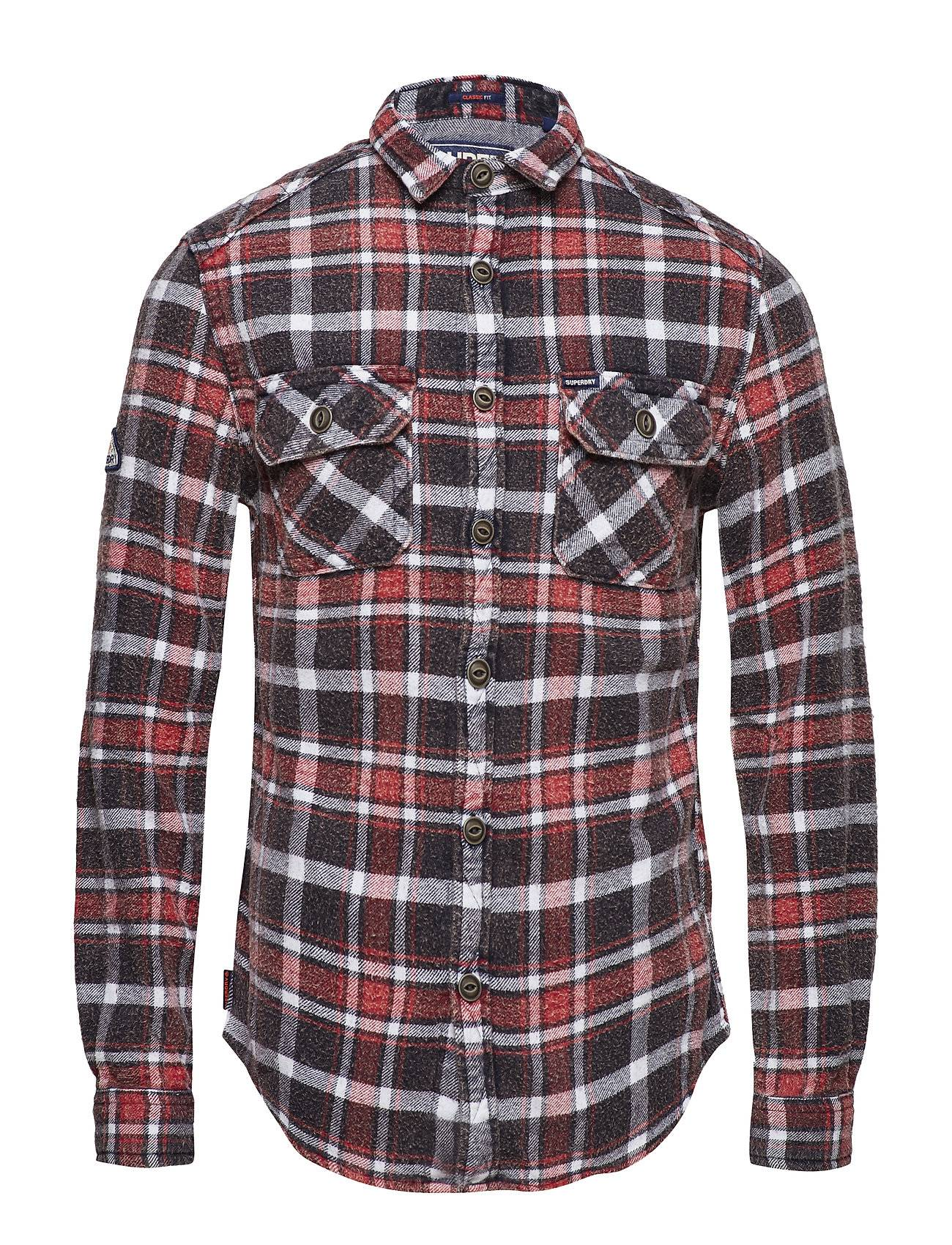 Superdry Merchant Milled Shirt Paita Rento Casual Punainen Superdry