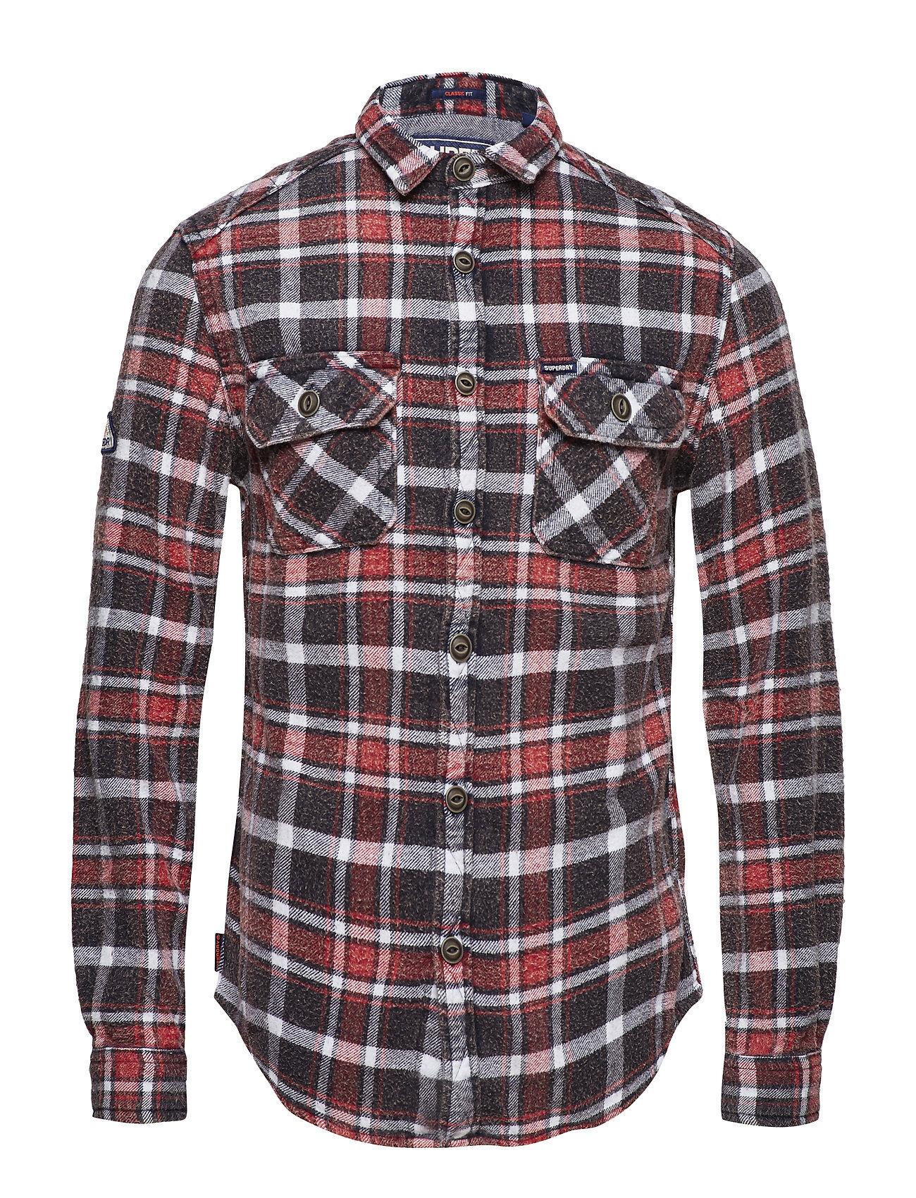 Superdry Merchant Milled Shirt Paita Rento Casual Punainen Superdry