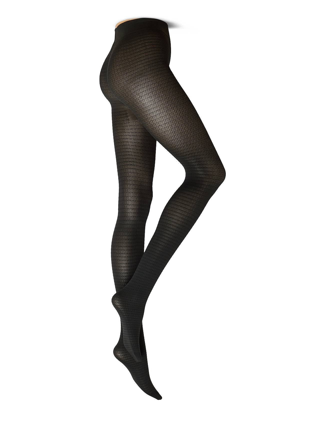 Swedish Stockings Agnes Houndstooth Tights Running/training Tights Musta Swedish Stockings
