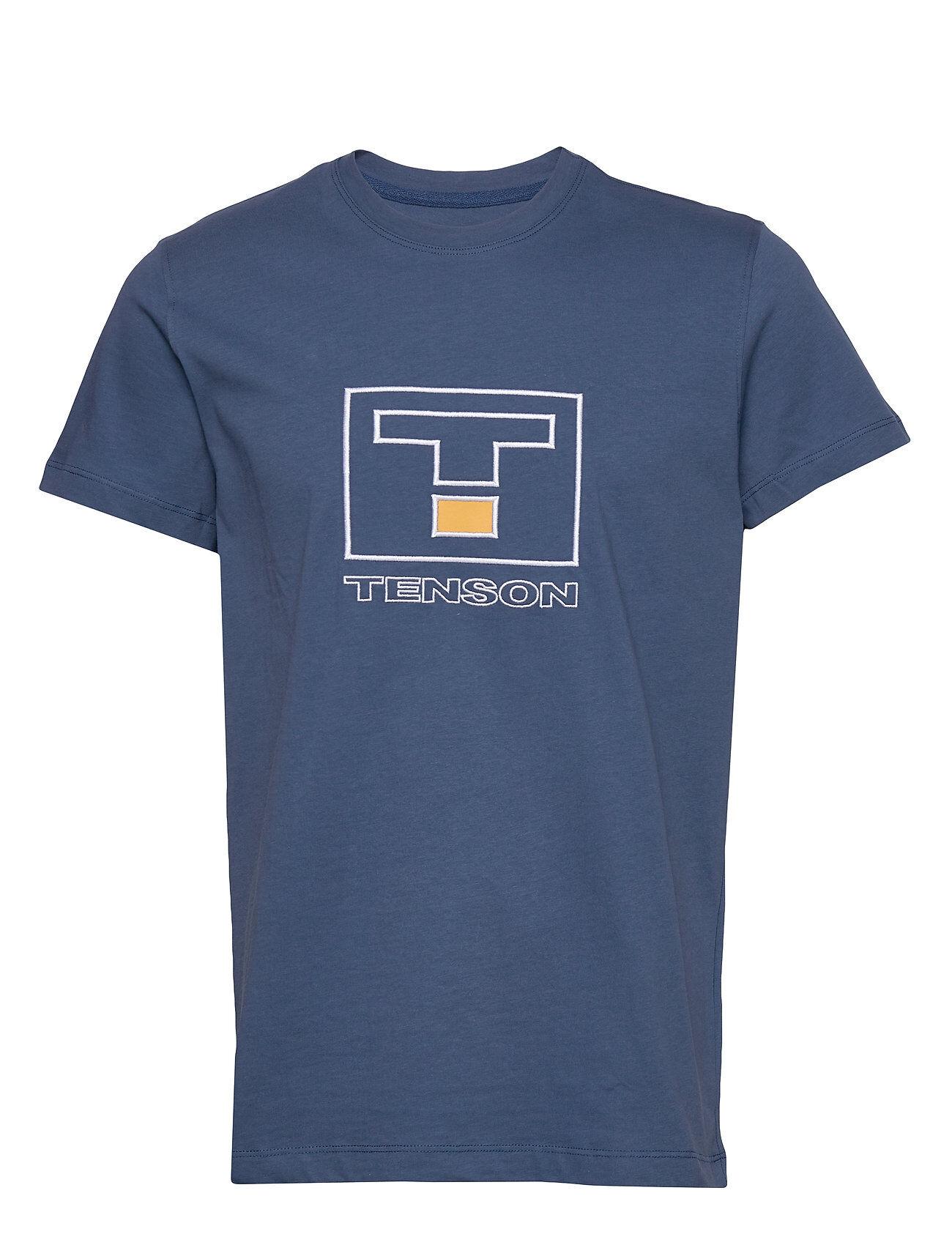 Tenson Vildmark Logo T-shirts Short-sleeved Sininen Tenson