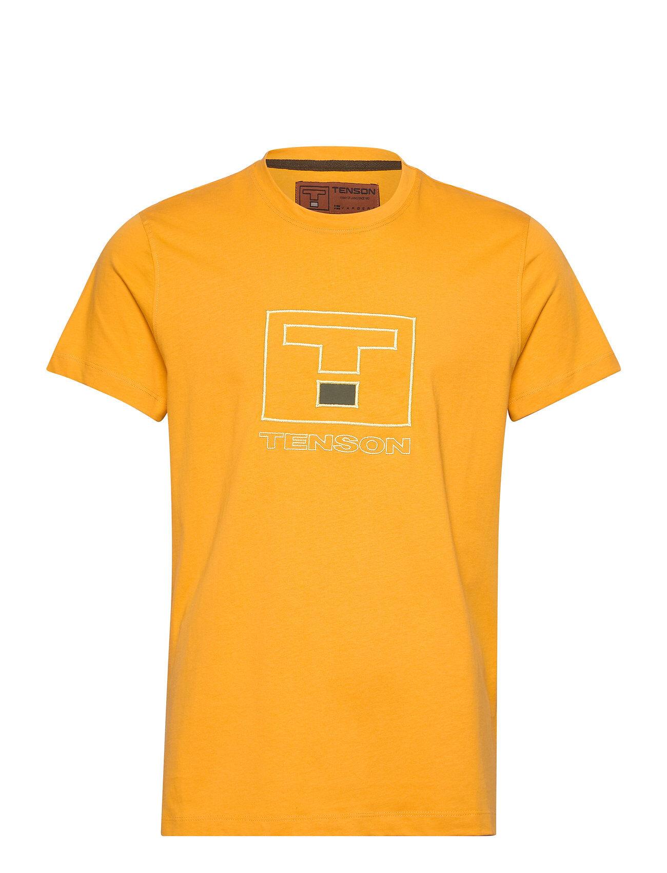 Tenson Vildmark Logo T-shirts Short-sleeved Keltainen Tenson