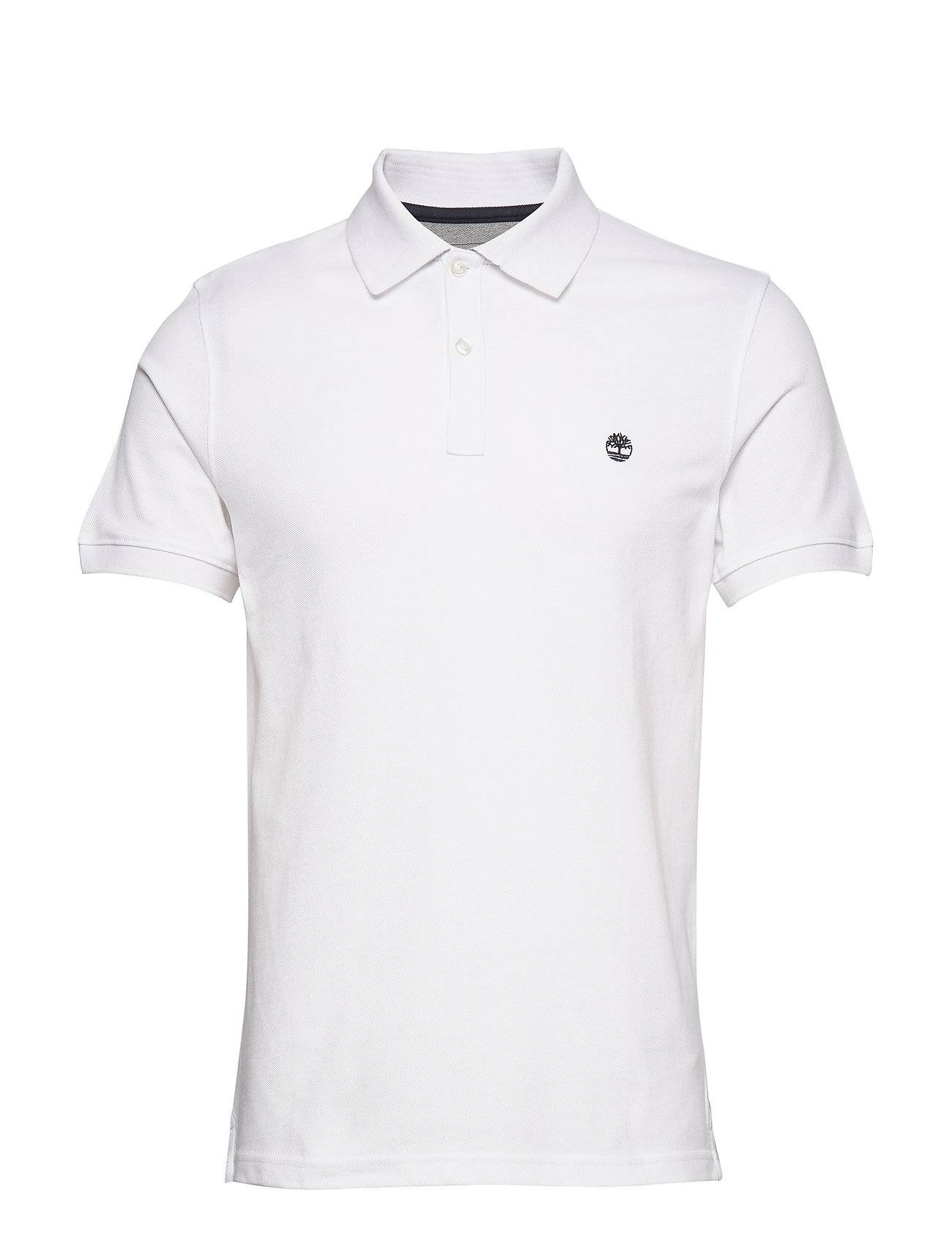 Timberland Ss Millers River Polo Polos Short-sleeved Valkoinen Timberland