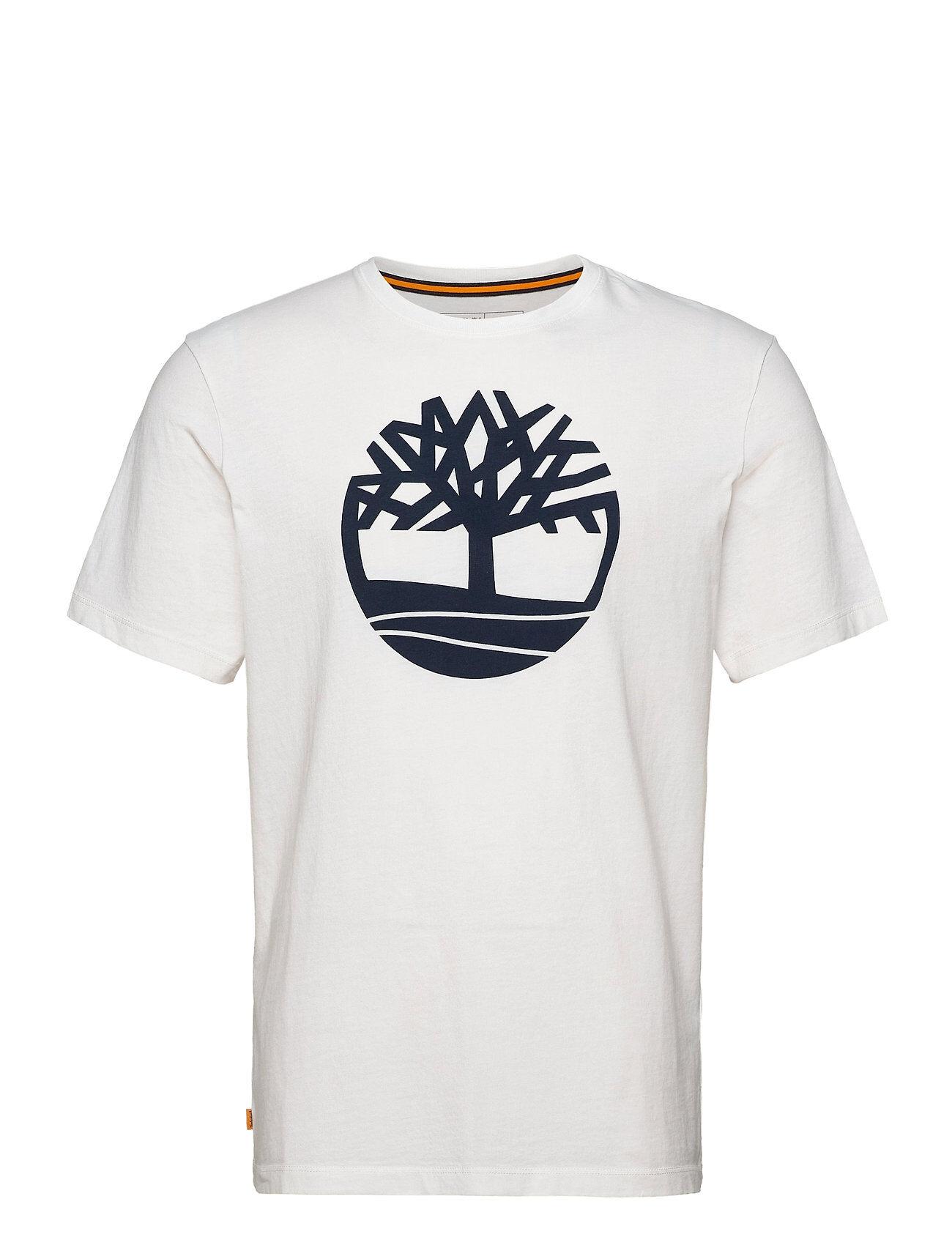 Timberland Ss K-R Brand Tree T T-shirts Short-sleeved Valkoinen Timberland