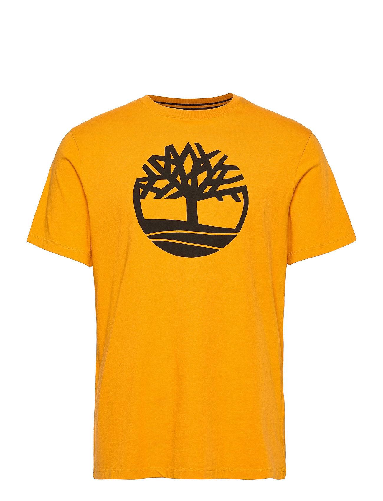 Timberland Ss K-R Brand Tree T Lyhythihainen Paita Keltainen Timberland