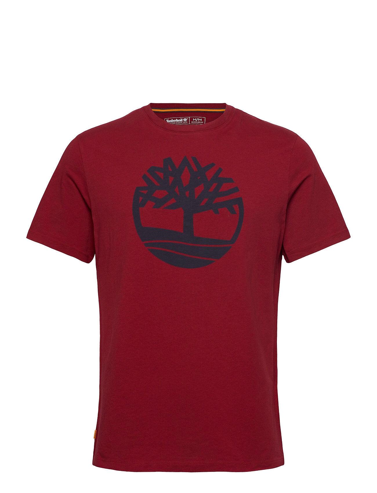 Timberland Ss K-R Brand Tree T T-shirts Short-sleeved Punainen Timberland