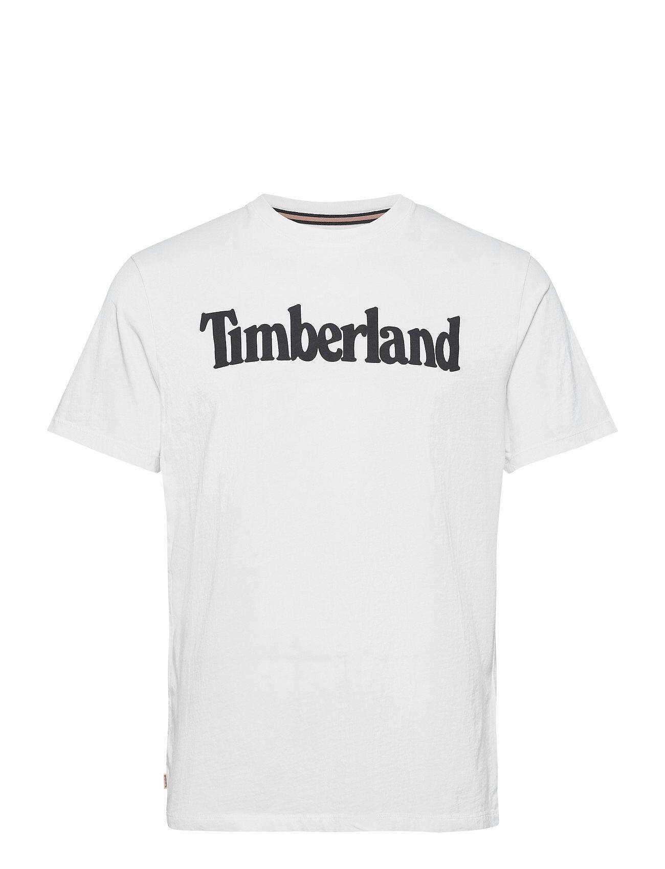 Timberland K-R Brand Linear T T-shirts Short-sleeved Valkoinen Timberland