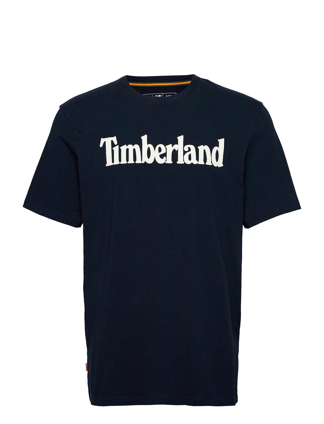 Timberland K-R Brand Linear T T-shirts Short-sleeved Sininen Timberland