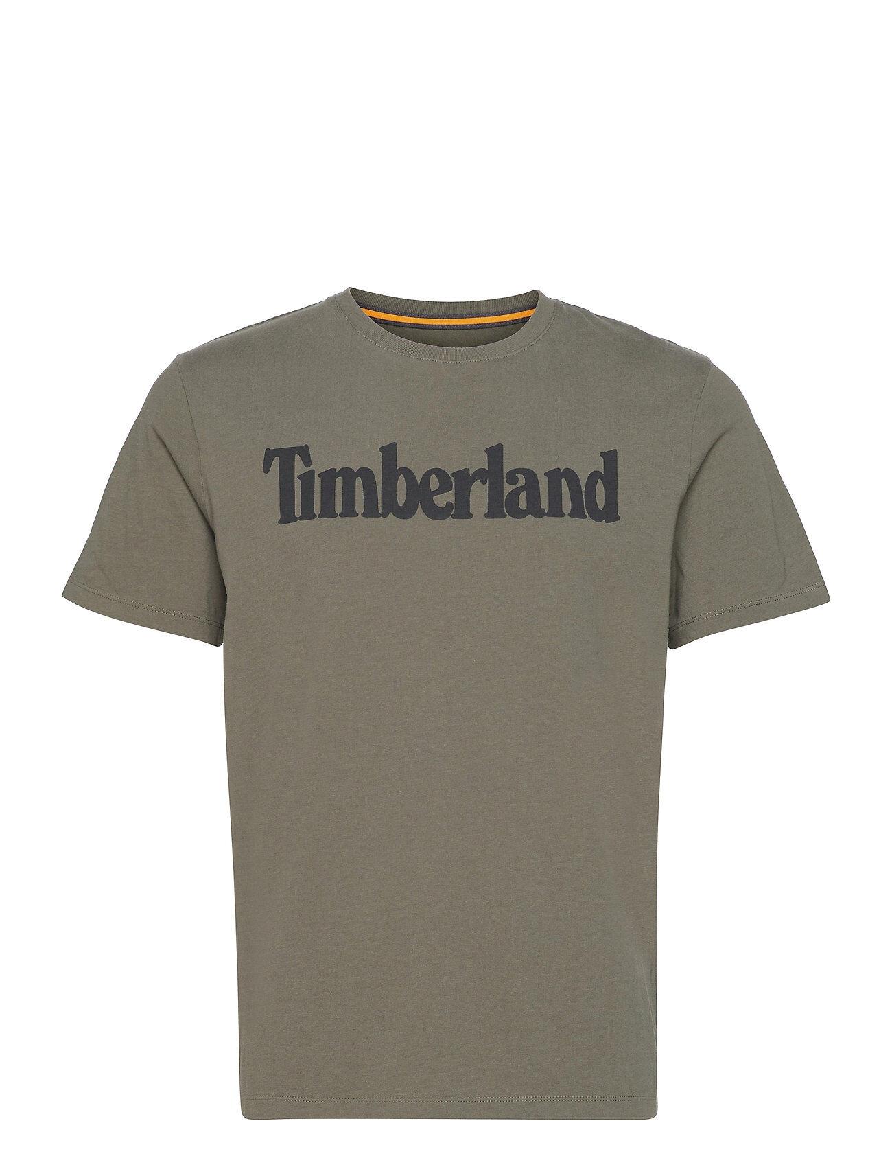 Timberland K-R Brand Linear T T-shirts Short-sleeved Vihreä Timberland