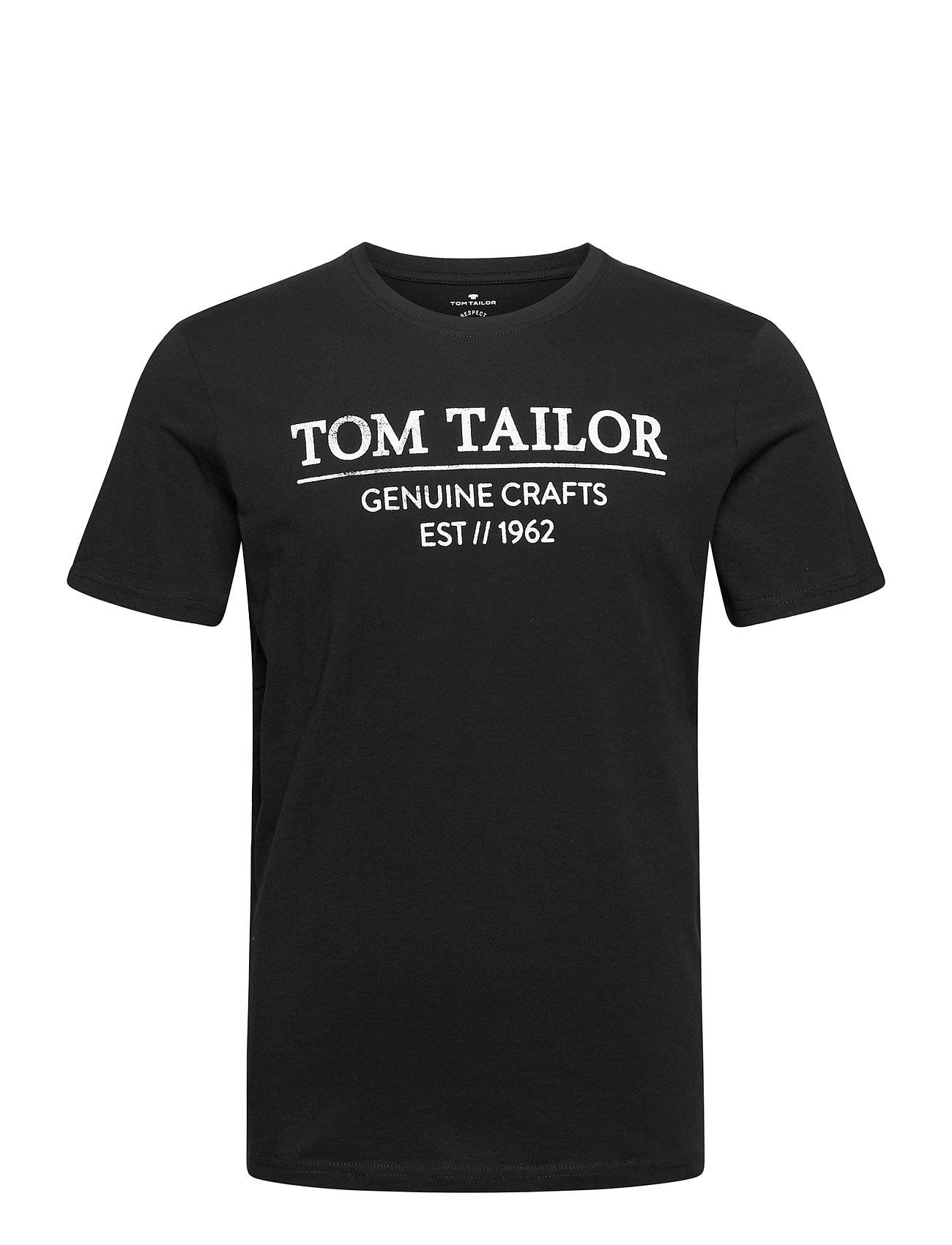 Tom Tailor T-Shirt With T-shirts Short-sleeved Musta Tom Tailor