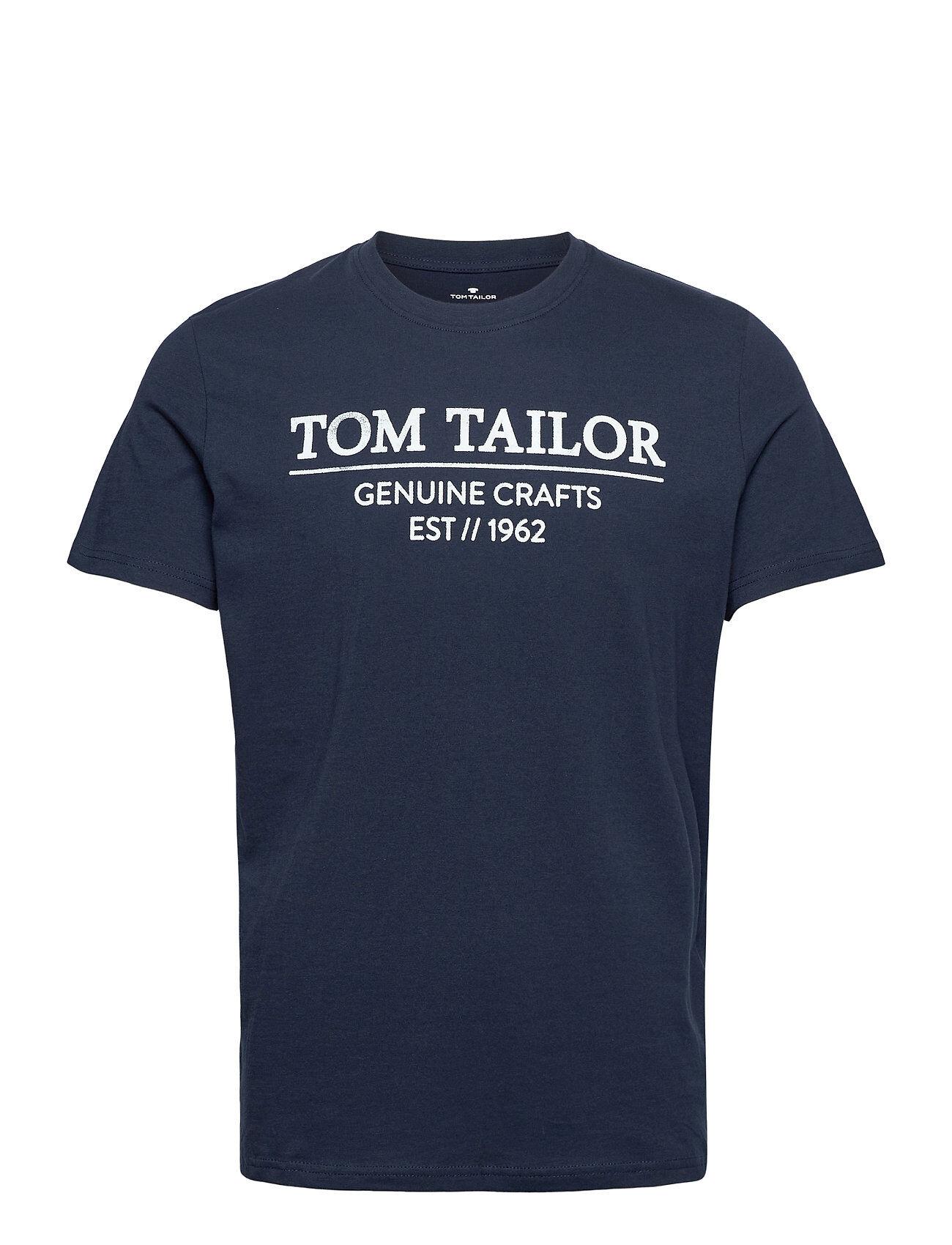 Tom Tailor T-Shirt With T-shirts Short-sleeved Sininen Tom Tailor