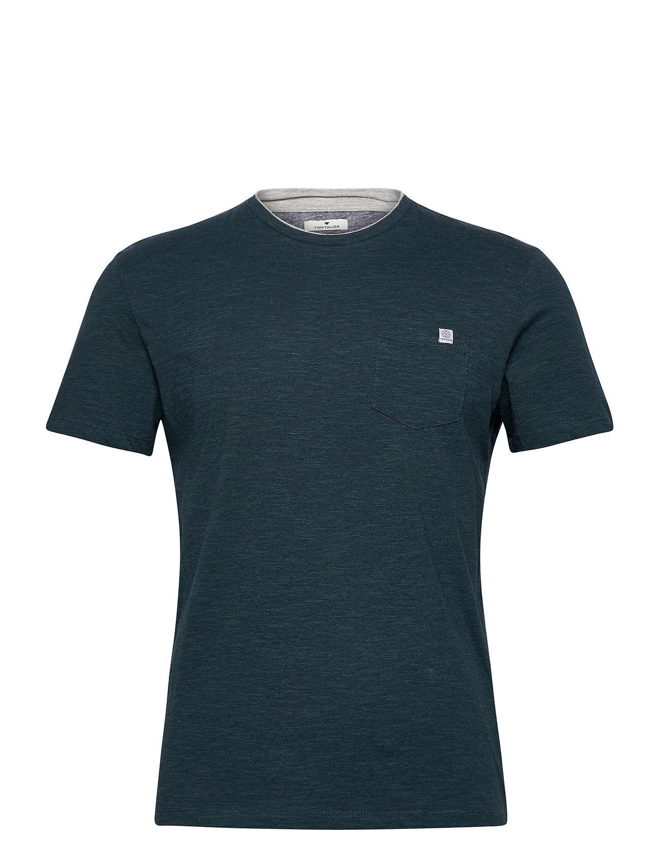 Tom Tailor Fineliner T- T-shirts Short-sleeved Vihreä Tom Tailor