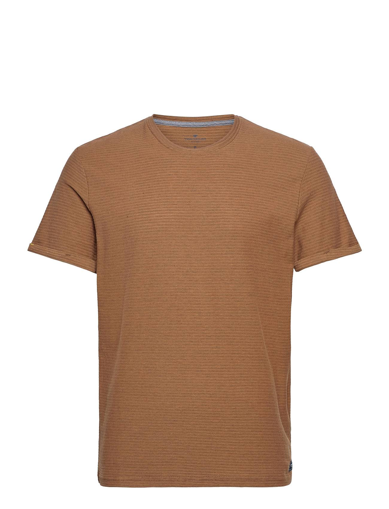 Tom Tailor T-Shirt With T-shirts Short-sleeved Ruskea Tom Tailor
