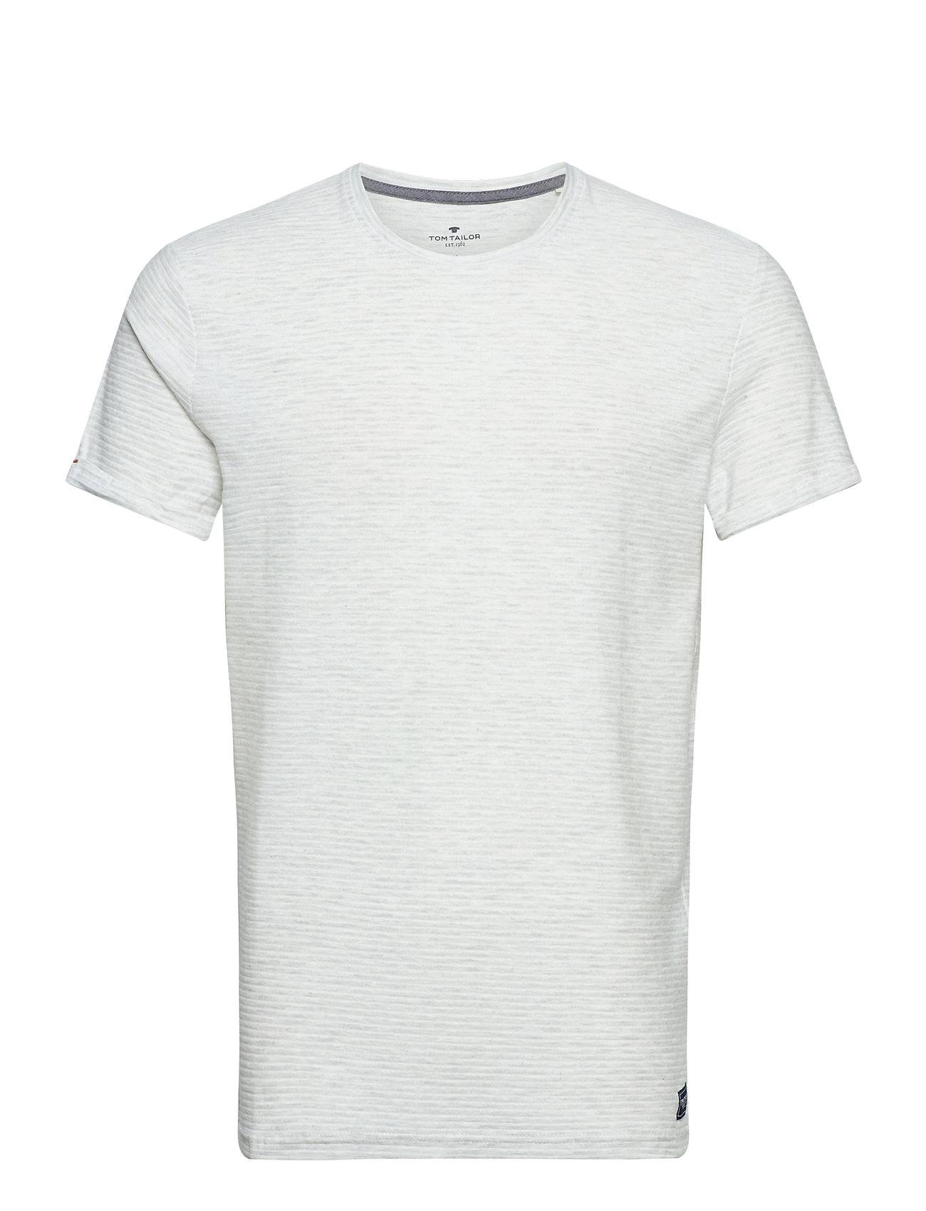 Tom Tailor T-Shirt With T-shirts Short-sleeved Valkoinen Tom Tailor