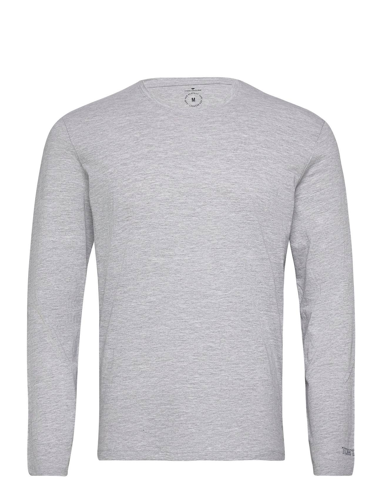 Tom Tailor Basic Organi T-shirts Long-sleeved Harmaa Tom Tailor
