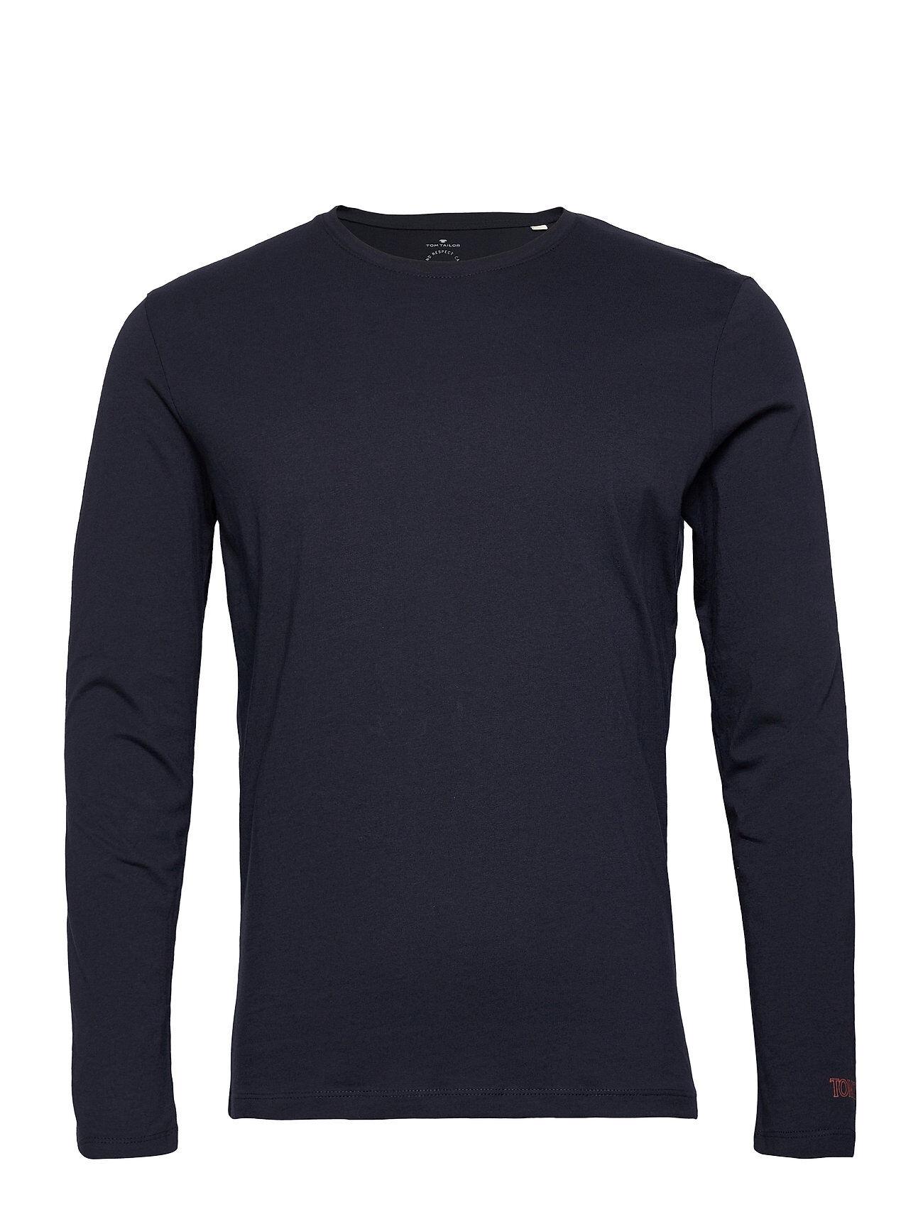 Tom Tailor Basic Organi T-shirts Long-sleeved Sininen Tom Tailor