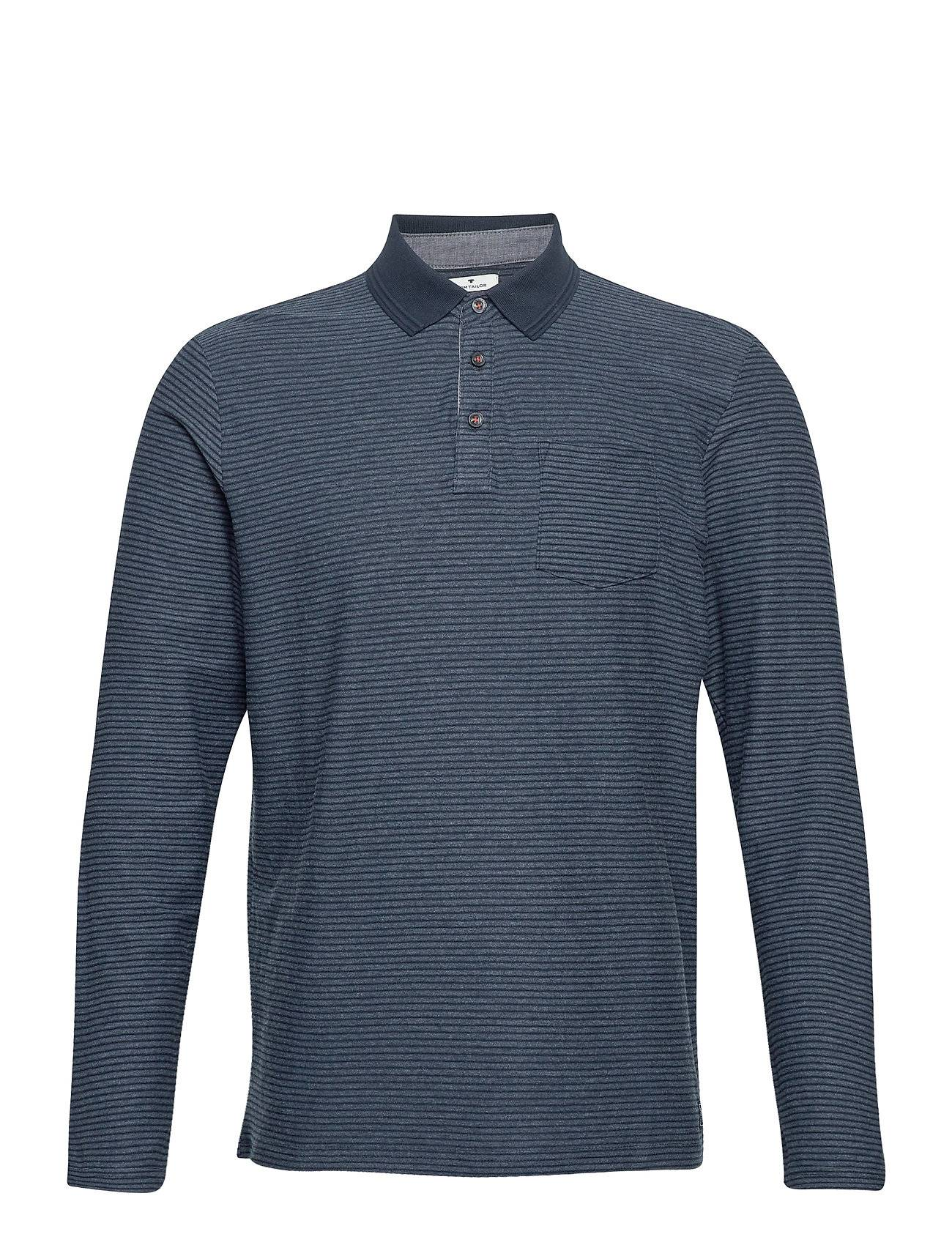 Tom Tailor Polo With St Polos Long-sleeved Sininen Tom Tailor