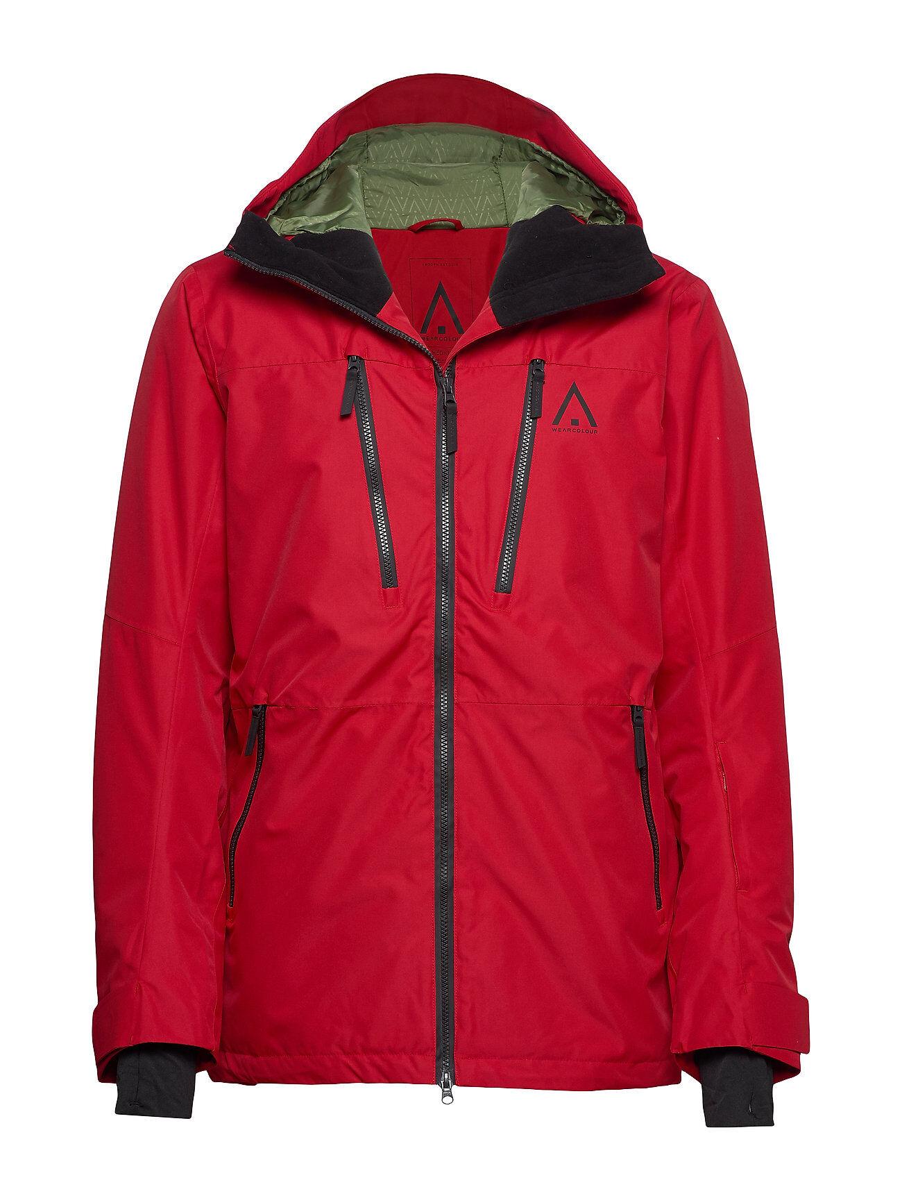 WearColour Grid Jacket Outerwear Sport Jackets Punainen WearColour