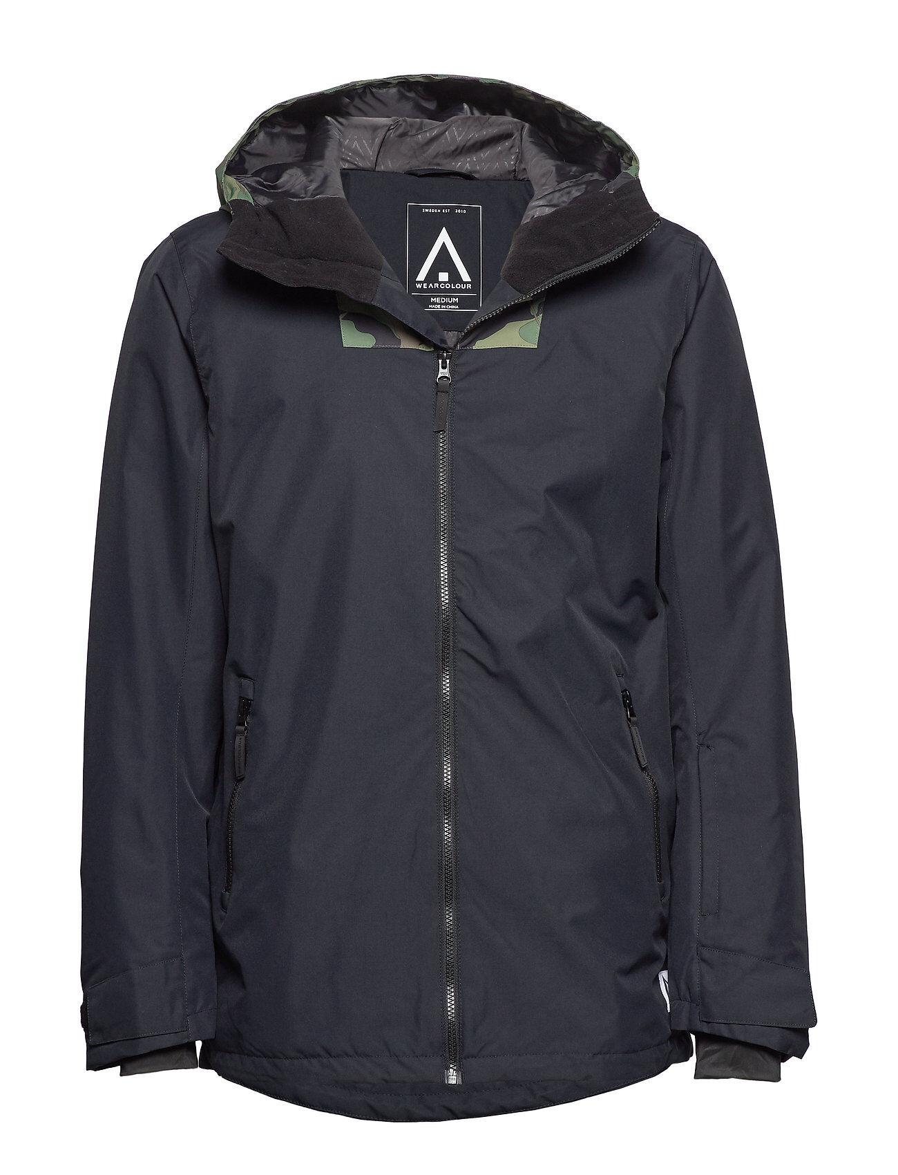 WearColour Block Jacket Outerwear Sport Jackets Musta WearColour