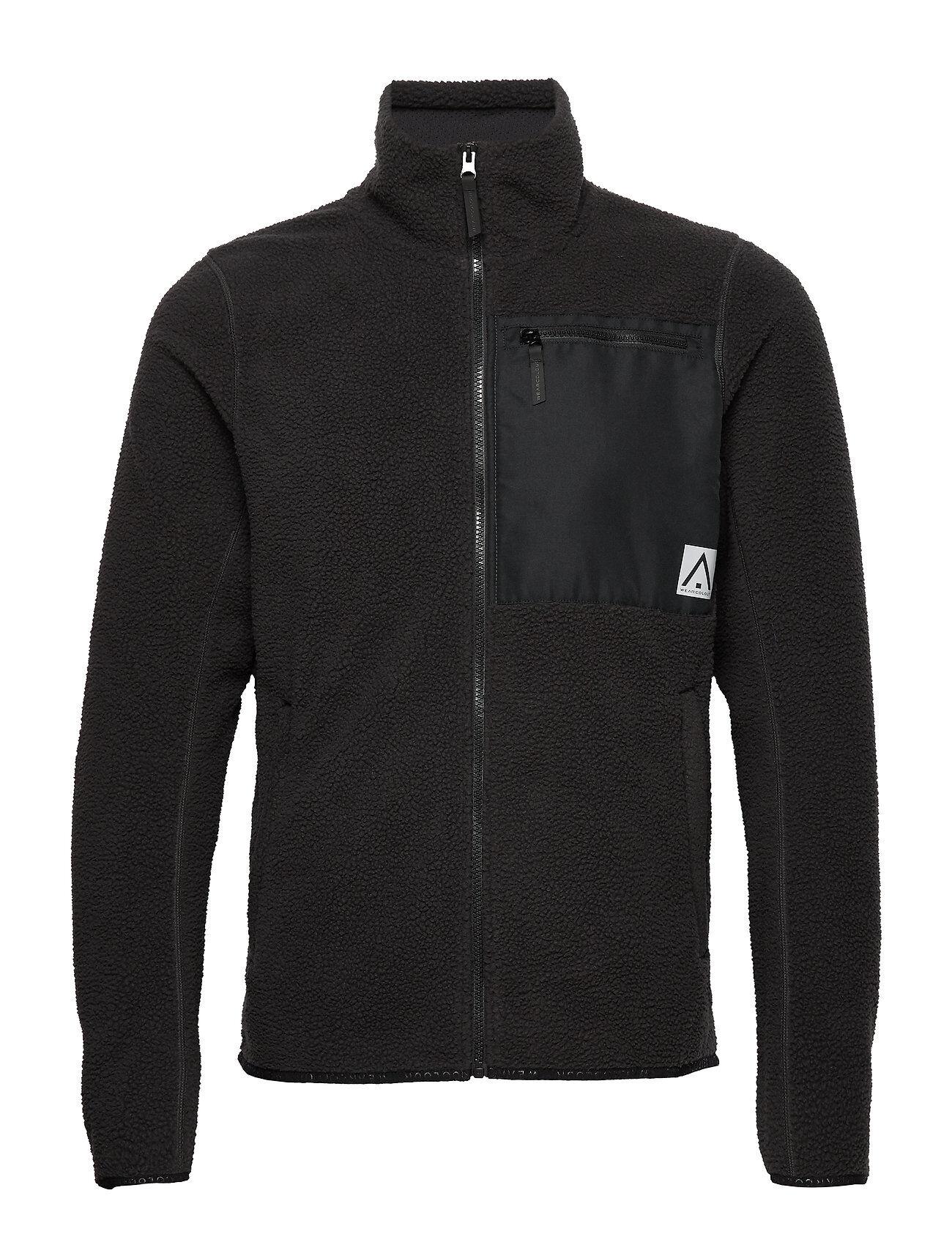 WearColour Retro Pile Jacket Svetari Collegepaita Musta WearColour