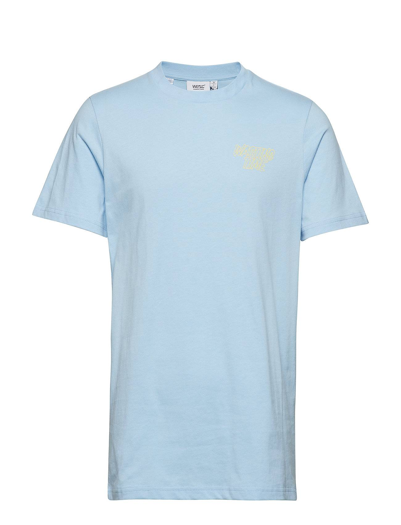 WeSC Max Vacation T-shirts Short-sleeved Sininen WeSC