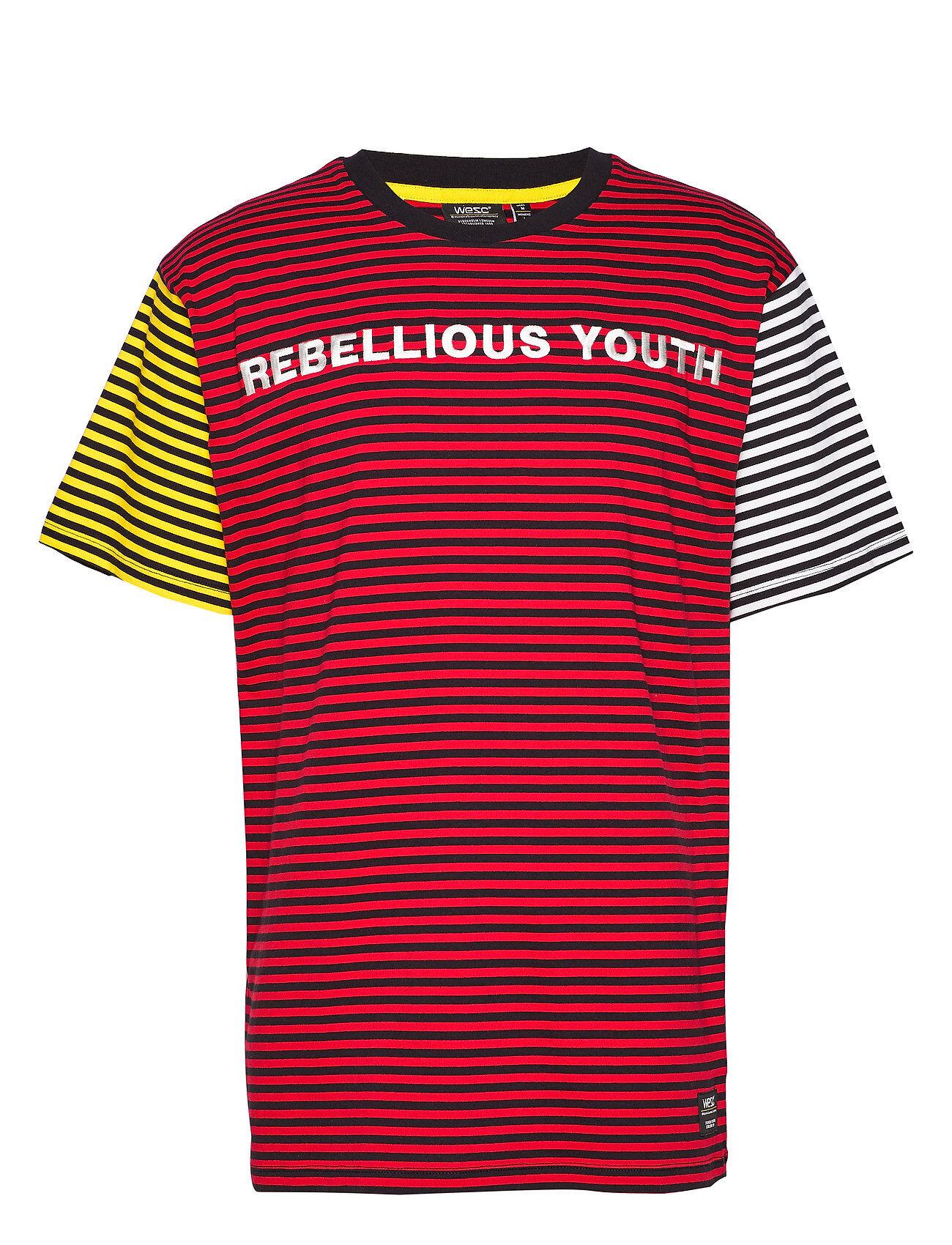 WeSC Mason Ry T-Shirt T-shirts Short-sleeved Punainen WeSC