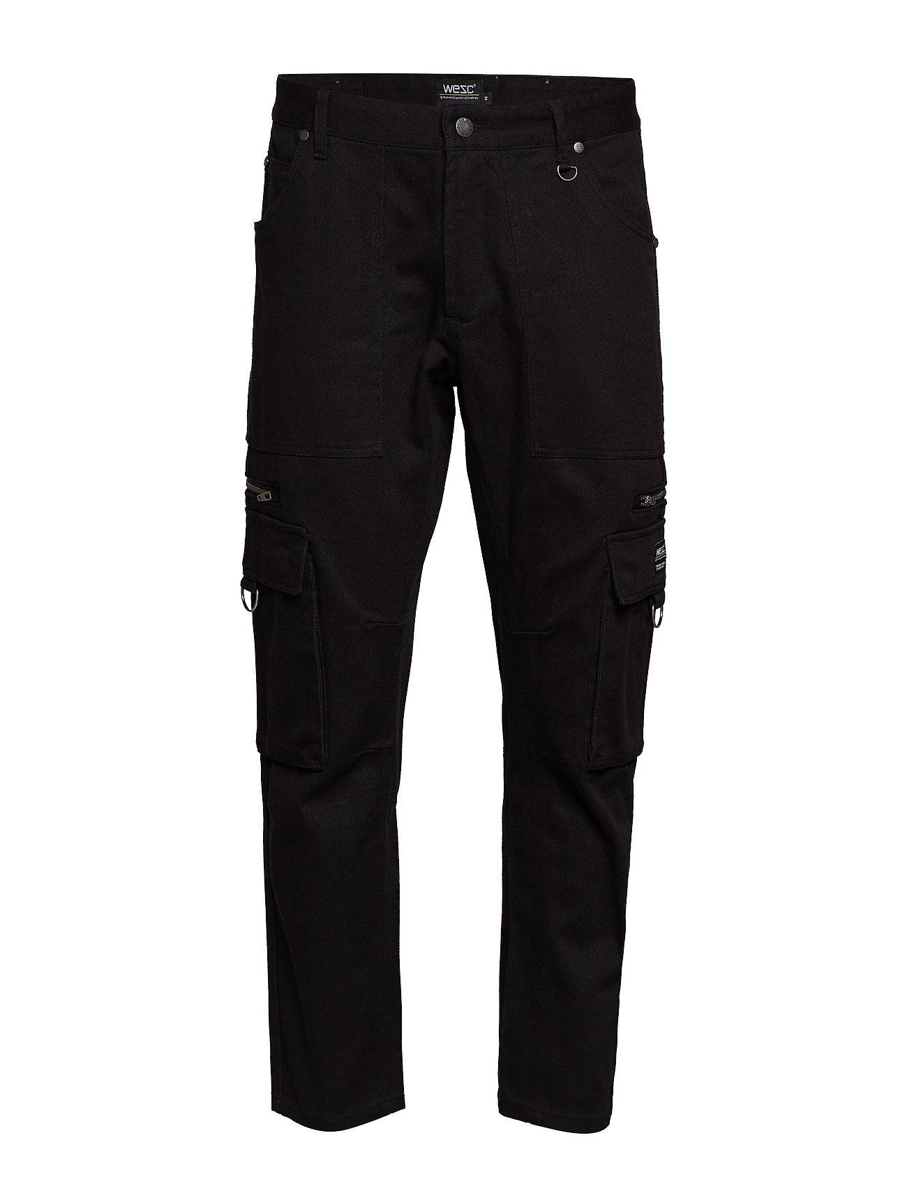 WeSC Tapered Utility Pant Trousers Cargo Pants Musta WeSC