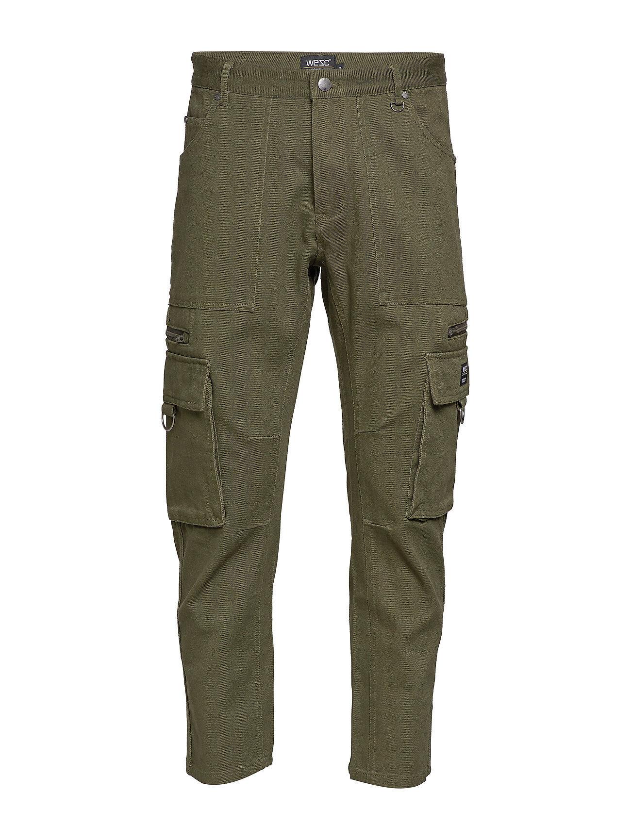 WeSC Tapered Utility Pant Trousers Cargo Pants Vihreä WeSC