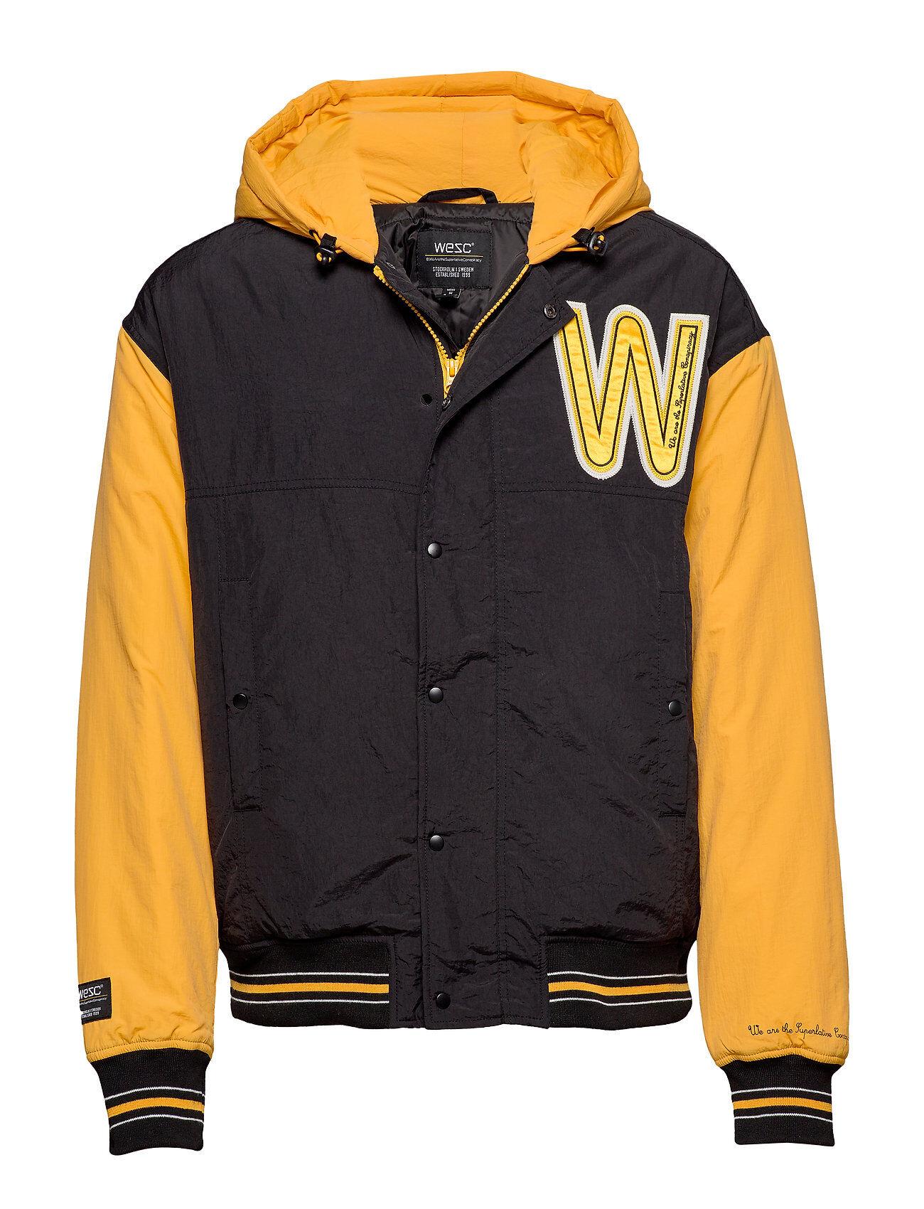 WeSC Hooded Padded Jacket Bombertakki Takki Keltainen WeSC