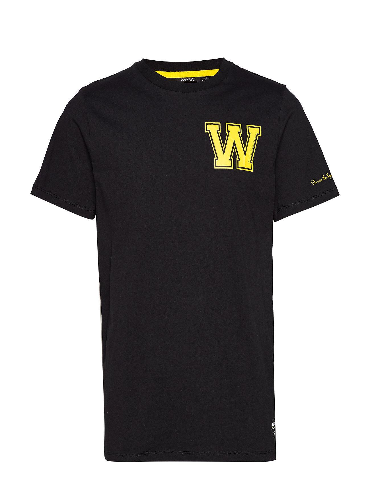 WeSC Max W T-Shirt T-shirts Short-sleeved Musta WeSC