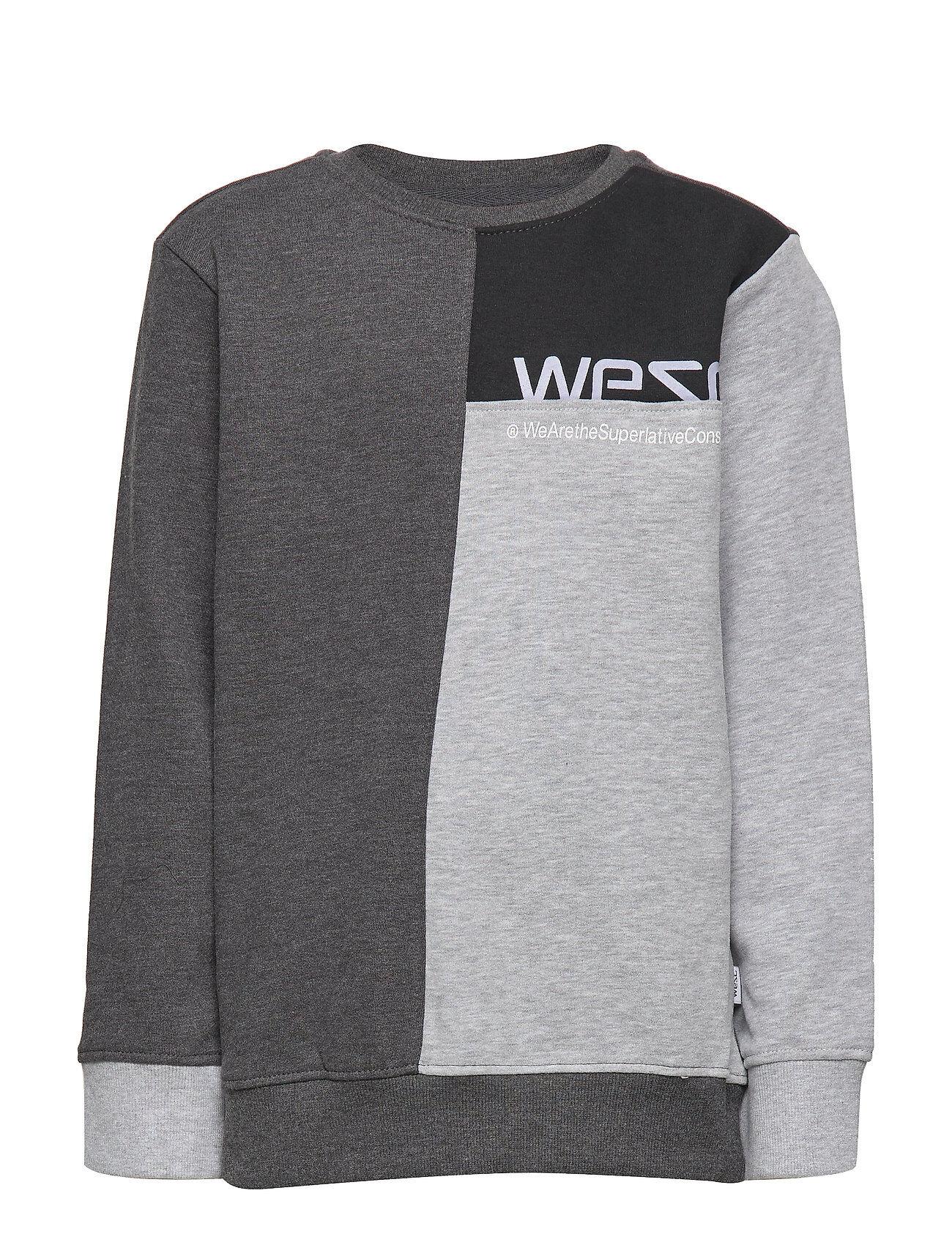 WeSC Block Sweatshirt Big Boy Svetari Collegepaita Harmaa WeSC