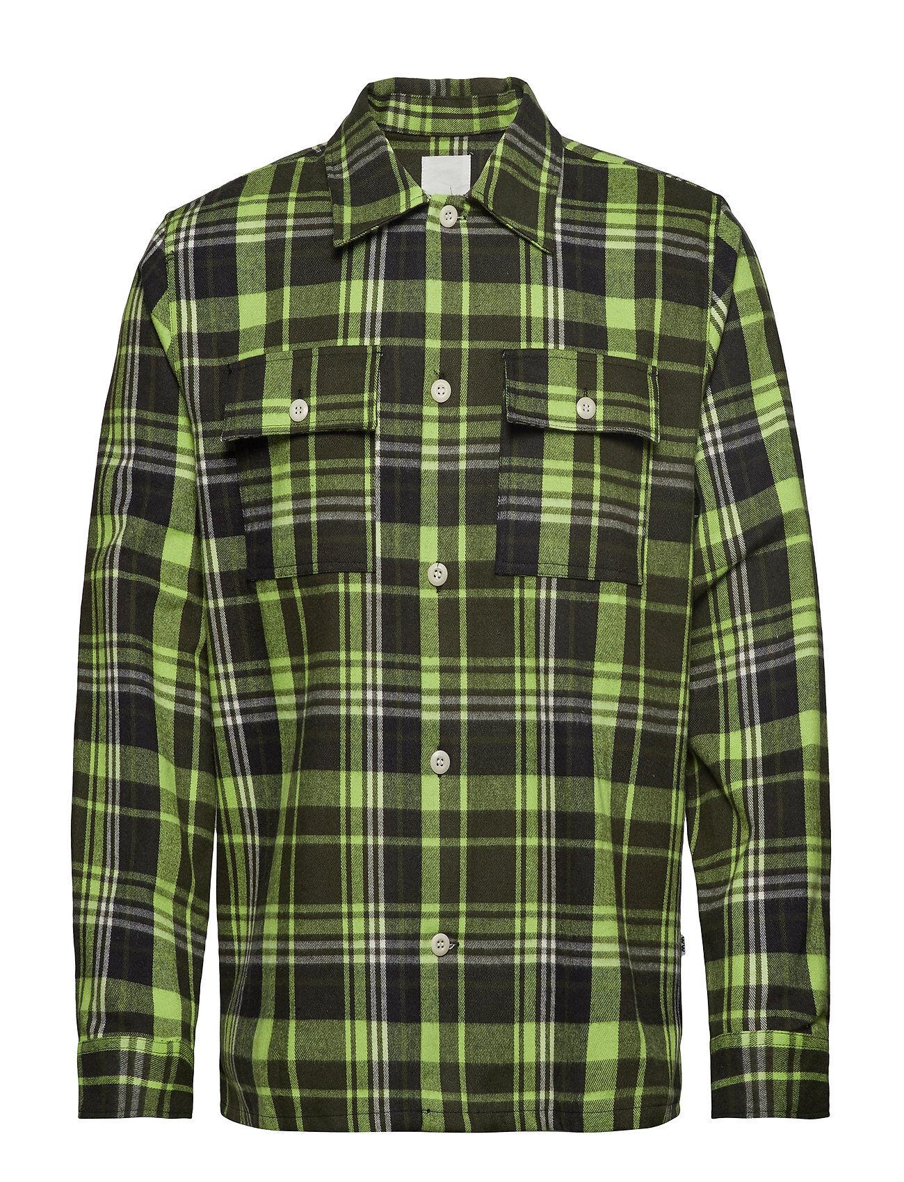 Wood Wood Franco Shirt Paita Rento Casual Vihreä Wood Wood