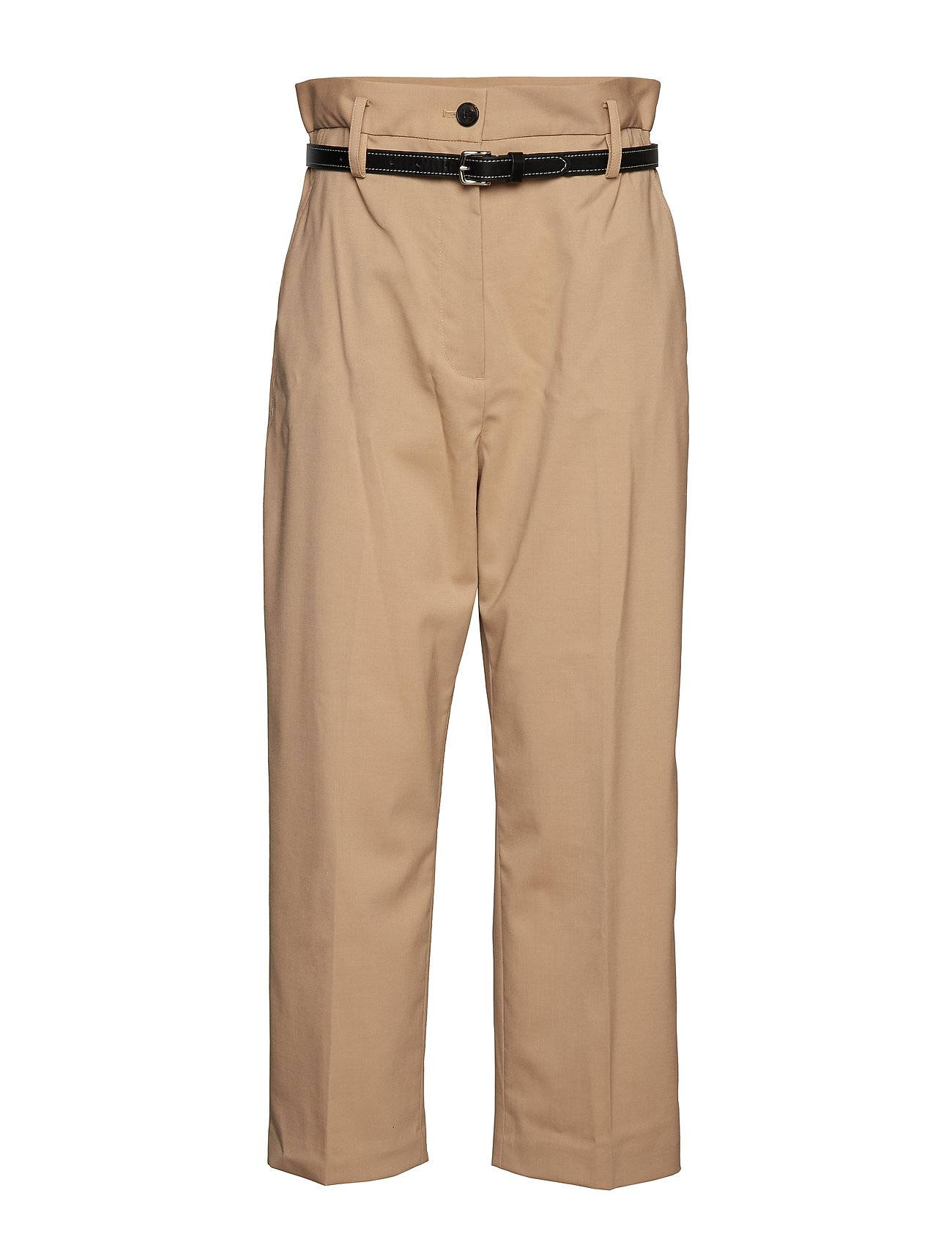3.1 Phillip Lim Paper Bag Wool Cropped Pant W Leather Belt