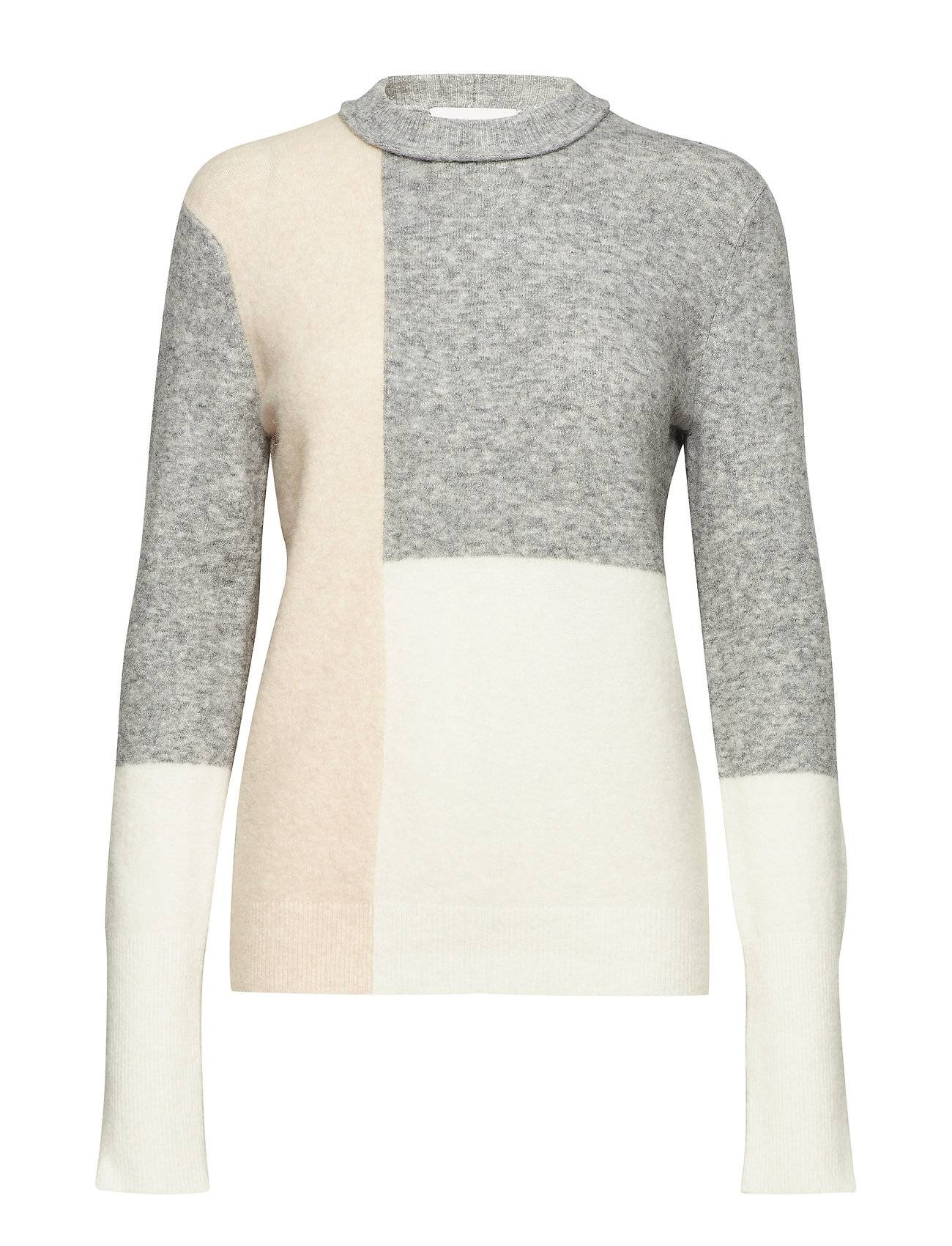 3.1 Phillip Lim Lofty Color Block Crew Neck Sweater