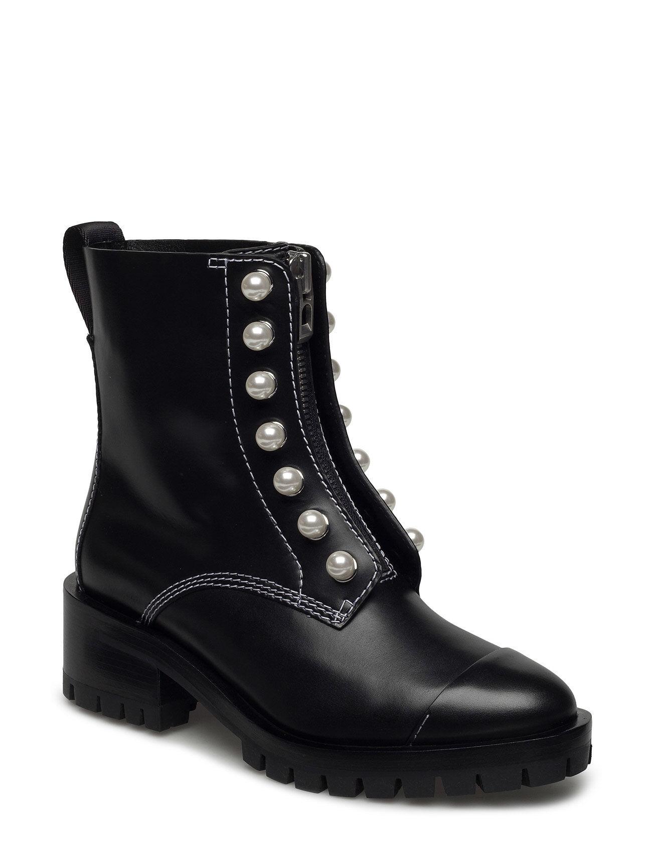 3.1 Phillip Lim Hayett - Lug Sole Zipper Boot With Pearls