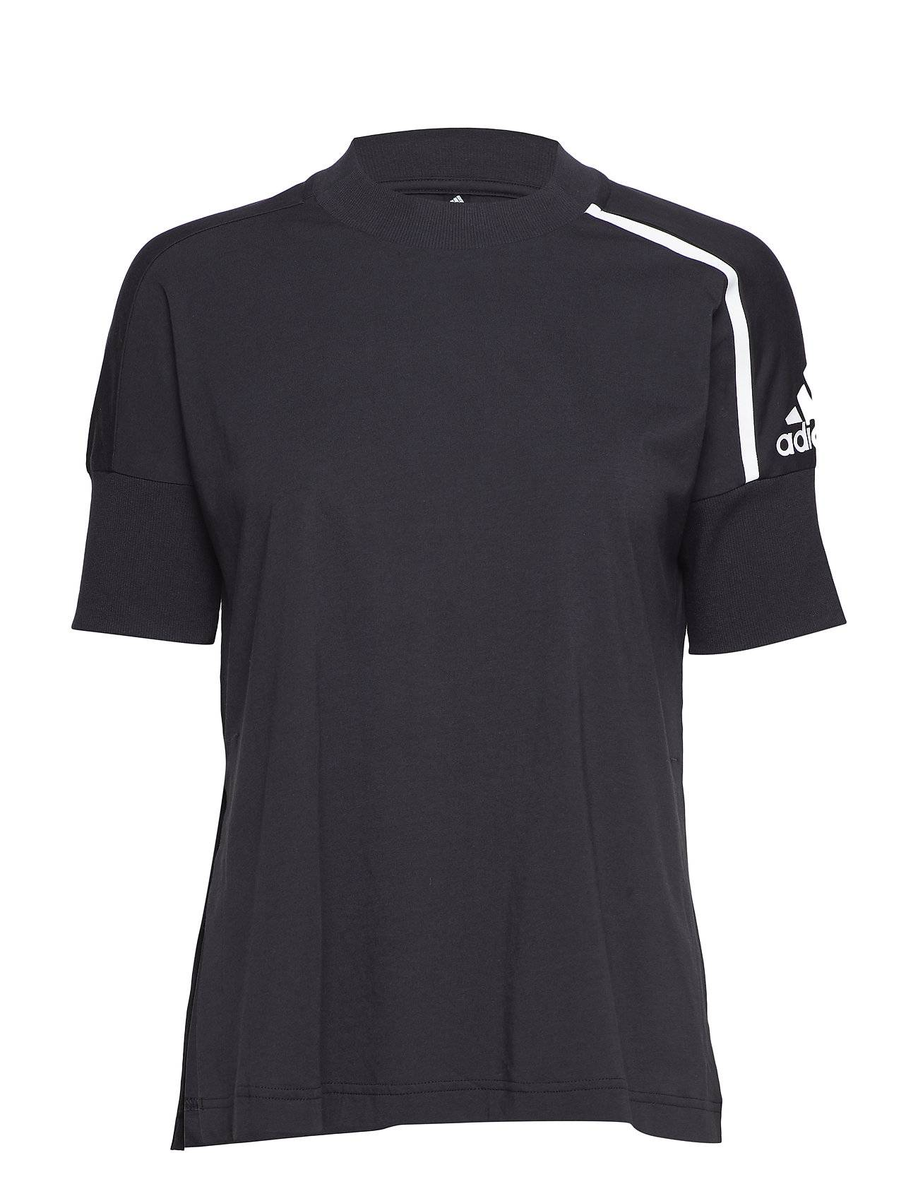 Image of adidas Performance W Zne Tee T-shirts & Tops Short-sleeved Musta Adidas Performance
