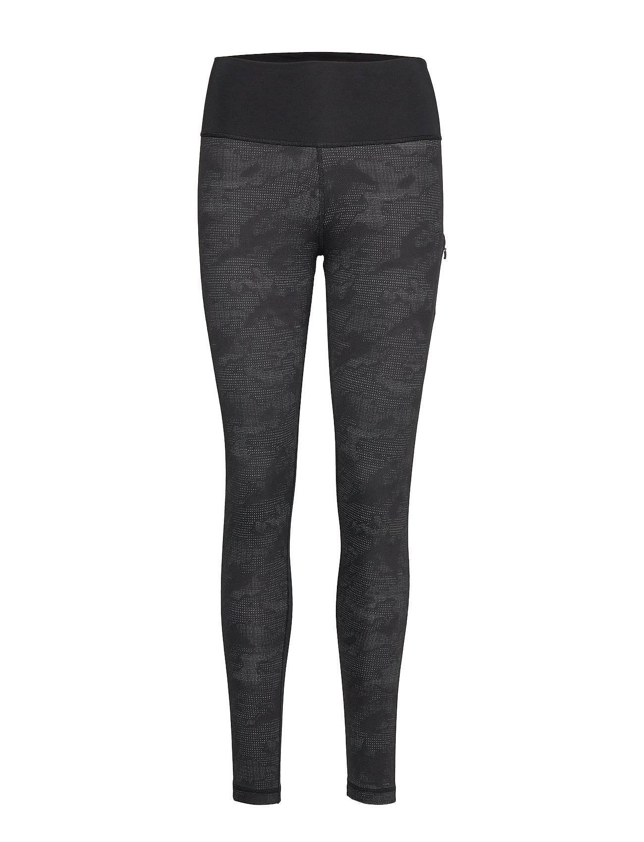 Image of adidas Performance Bt Hr L Camo T Running/training Tights Musta Adidas Performance