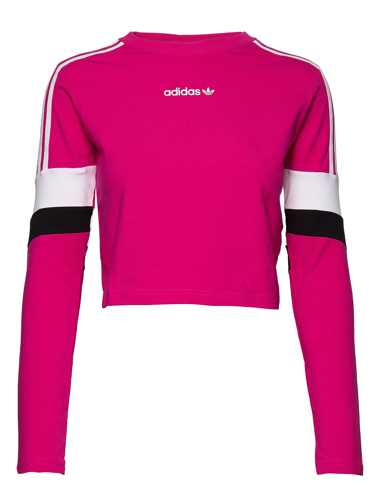 Image of adidas Originals Cropped Ls T-shirts & Tops Long-sleeved Vaaleanpunainen