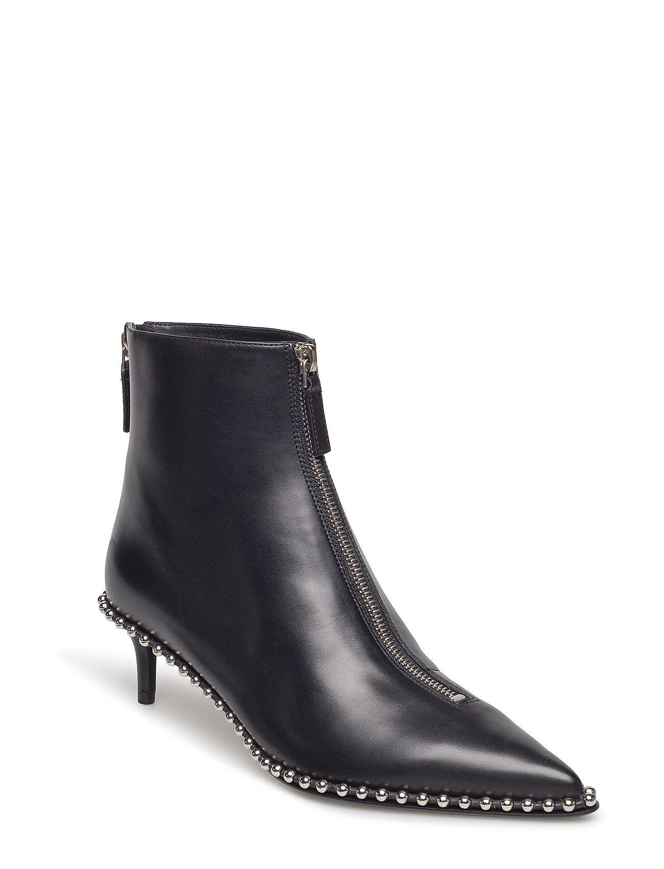 Alexander Wang Eri Low Black Smooth Leather